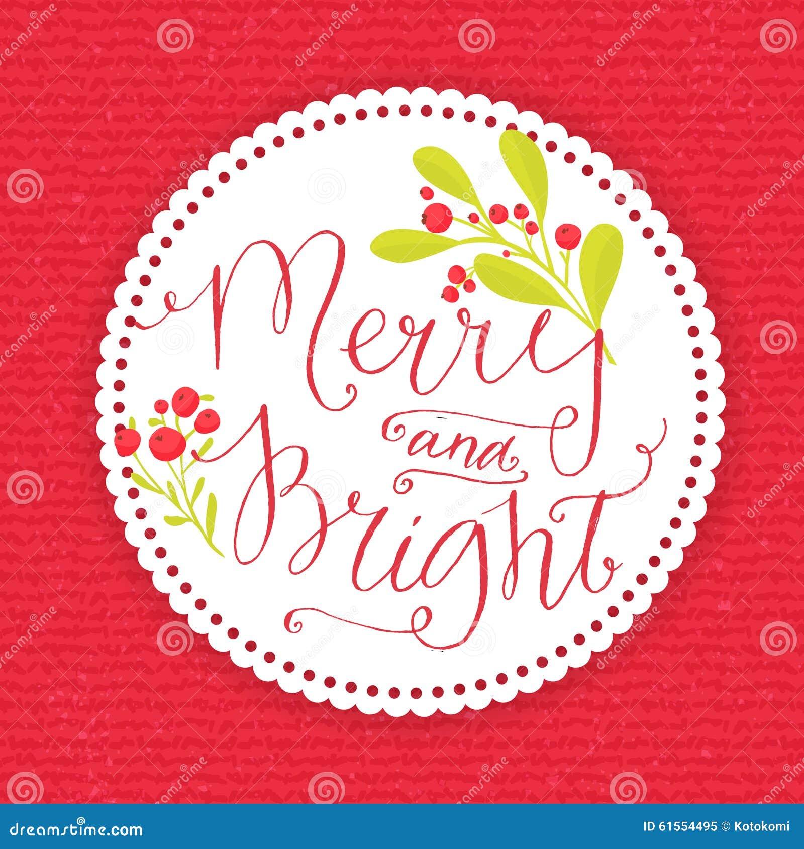 Vrolijk en Helder Capricieuze Kerstkaart met