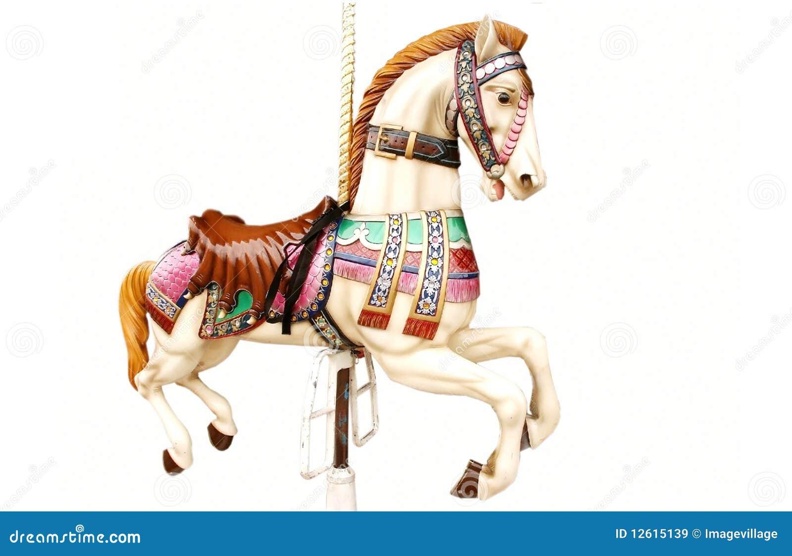 Vrolijk-gaan-rond paard