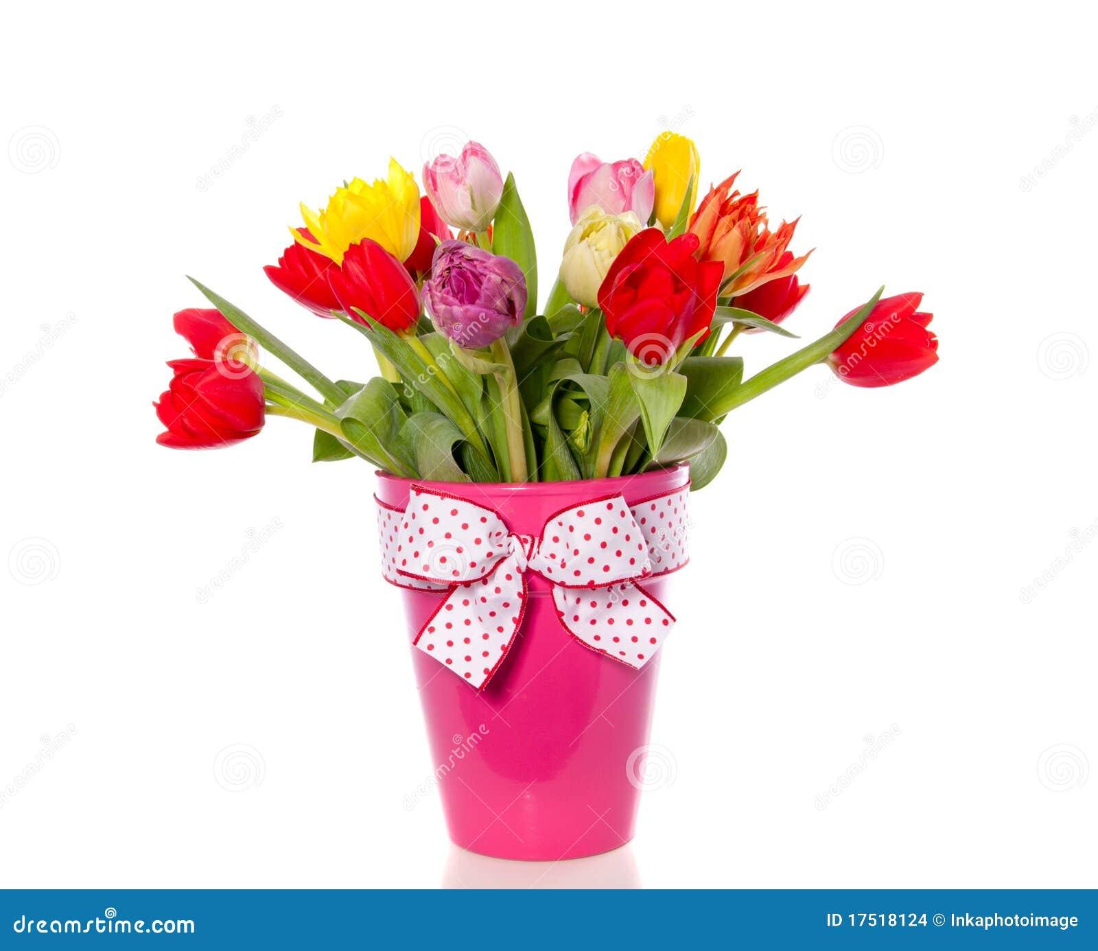 Vrolijk gemengd tulpenboeket