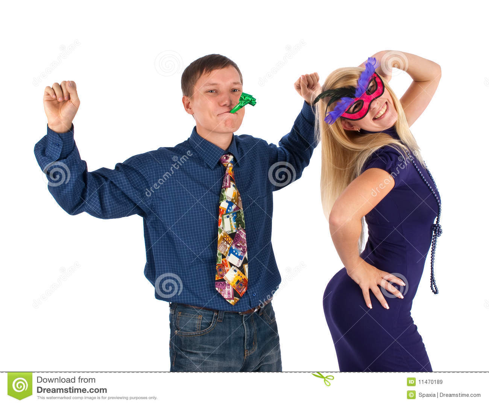 Vrolijk jong paar