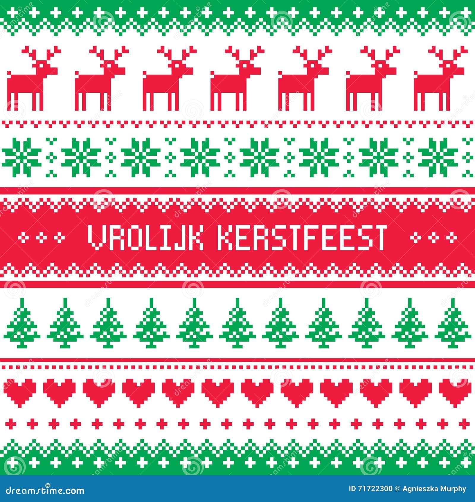 Vrolijk kerstfeest greetings card merry christmas in dutch and vrolijk kerstfeest greetings card merry christmas in dutch and flemish kristyandbryce Choice Image