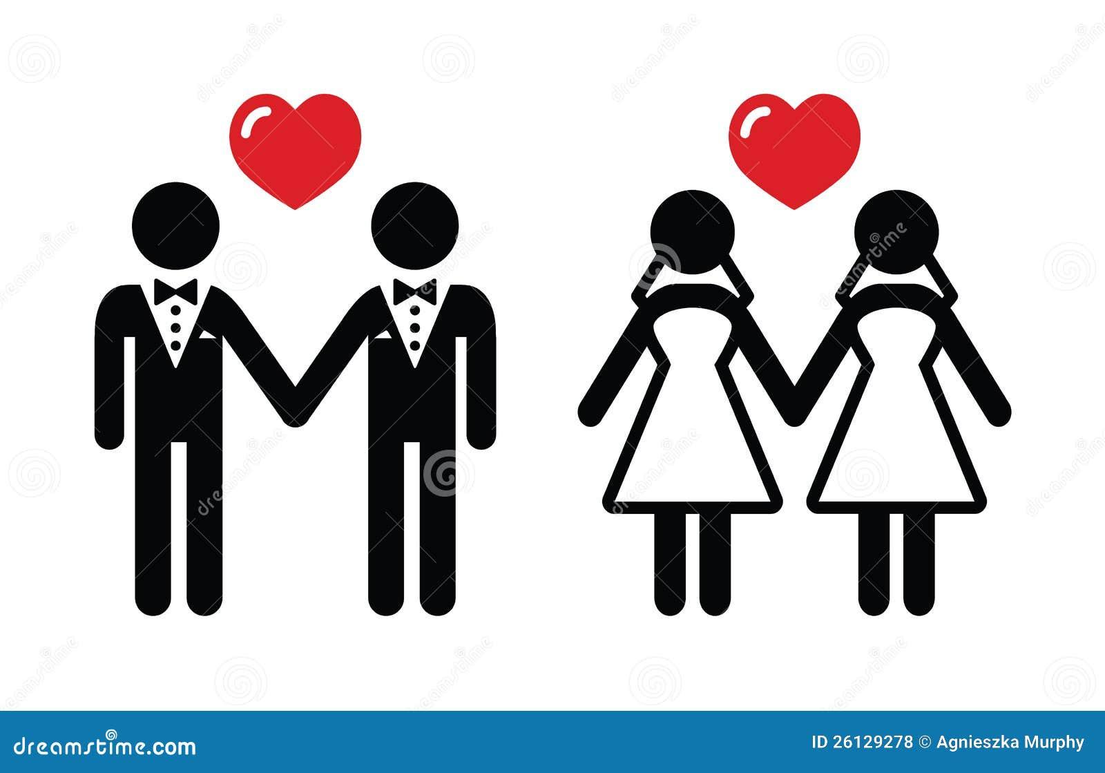 Vrolijke geplaatste huwelijkspictogrammen