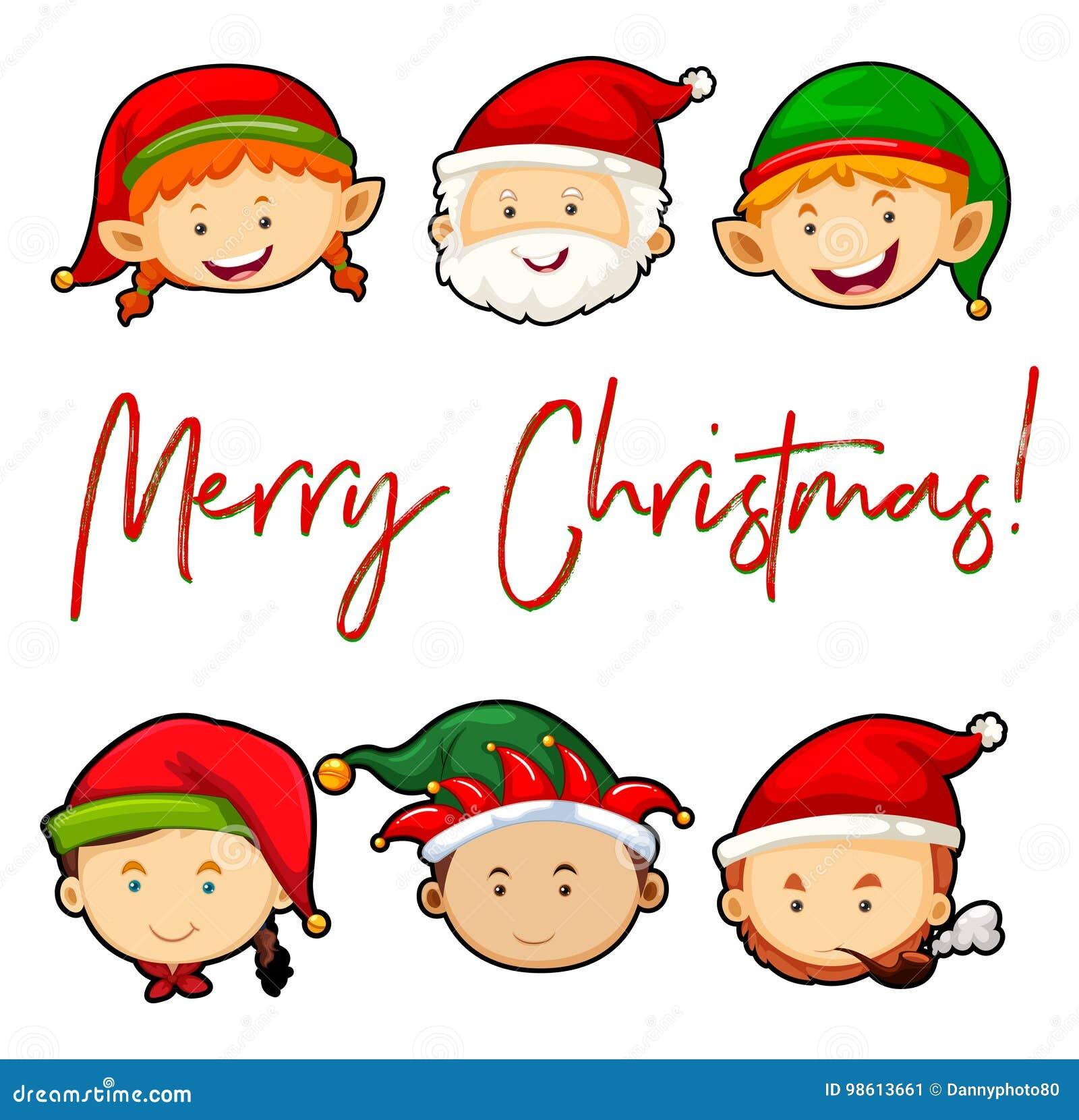 Vrolijke Kerstkaart met Kerstman en elf