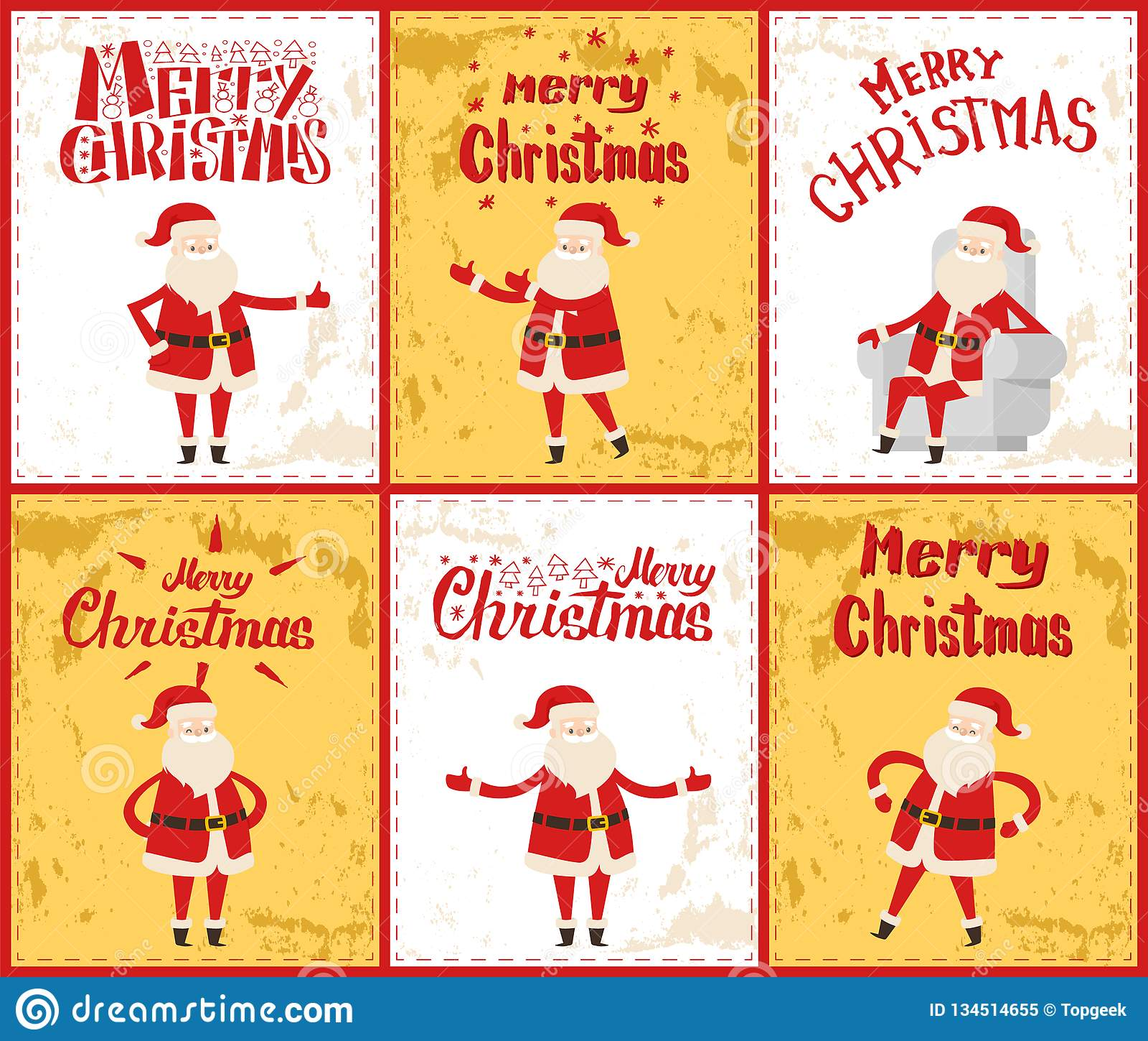 Vrolijke Kerstmis met Santa Posing in Beeldenvector