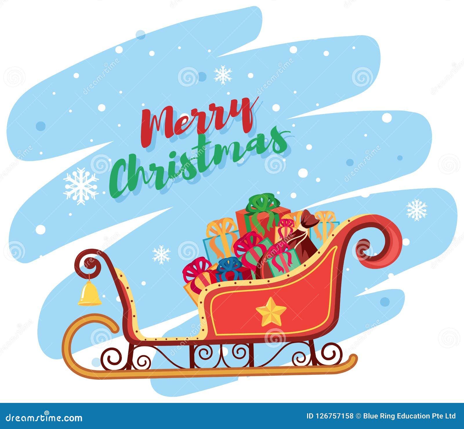 Vrolijke Kerstmis Santa Sleigh
