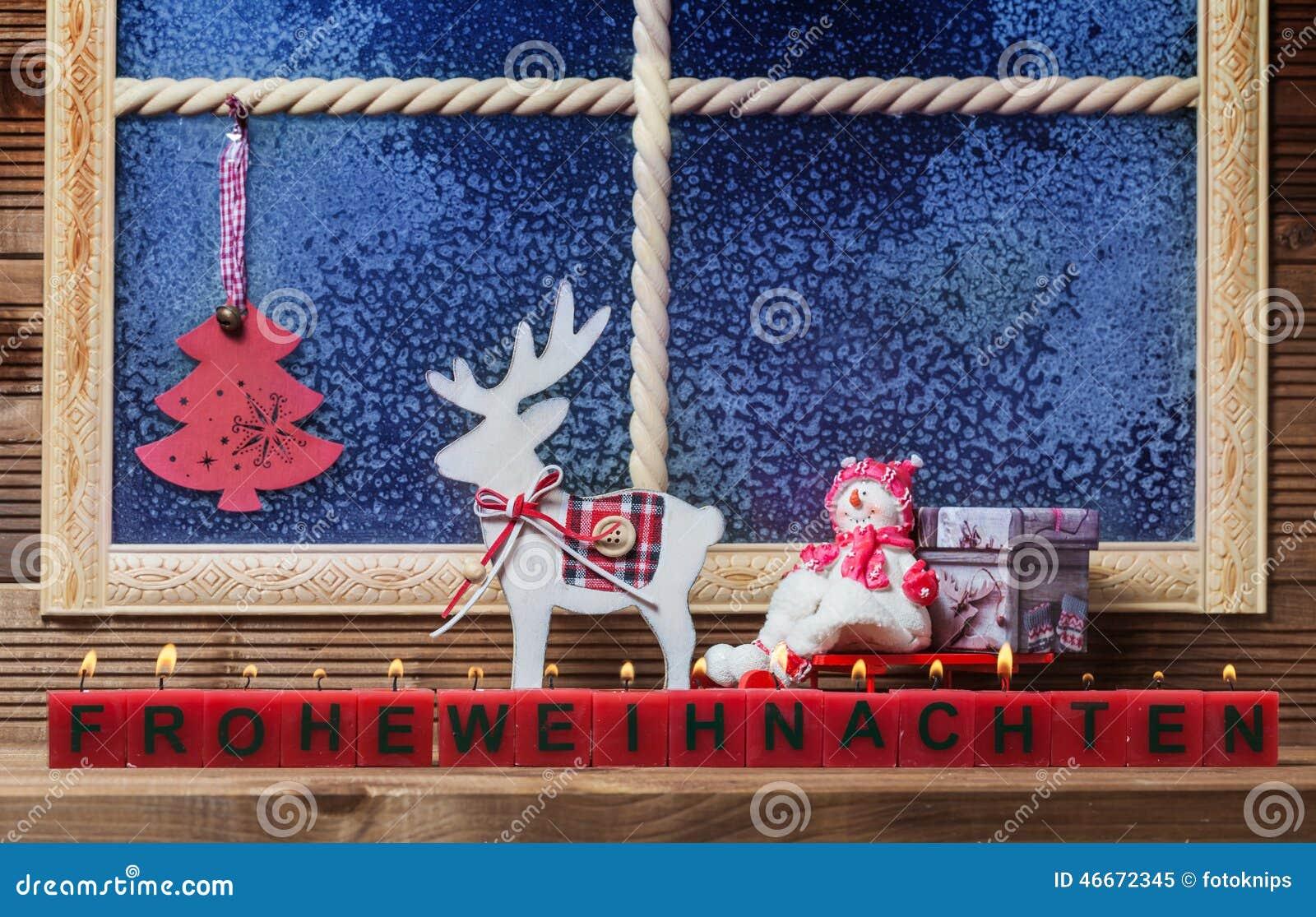 vrolijke kerstmis vensterdecoratie stock foto