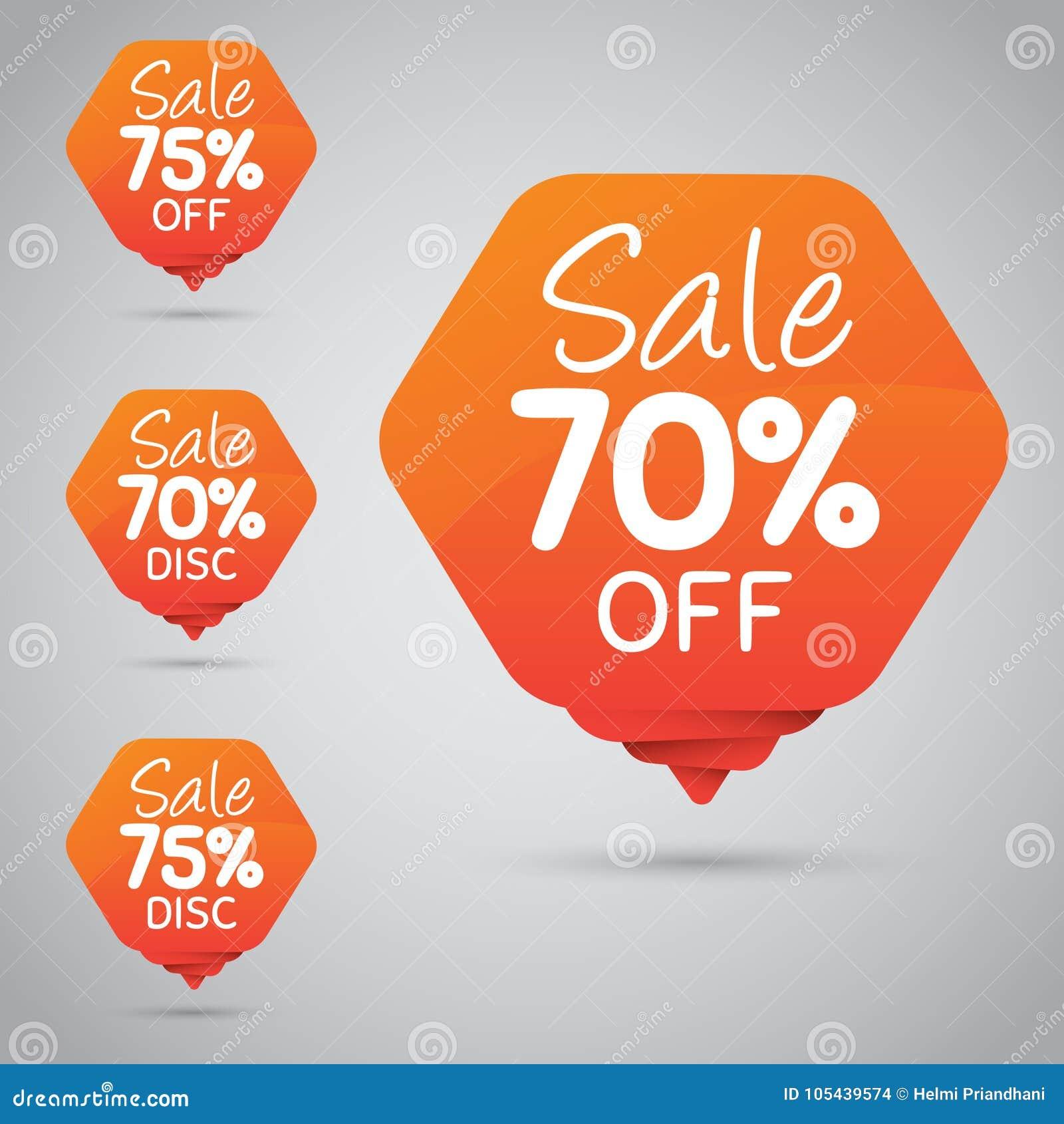 Vrolijke Oranje Markering voor Marketing Kleinhandelselementenontwerp 70  75  Verkoop, Schijf, weg