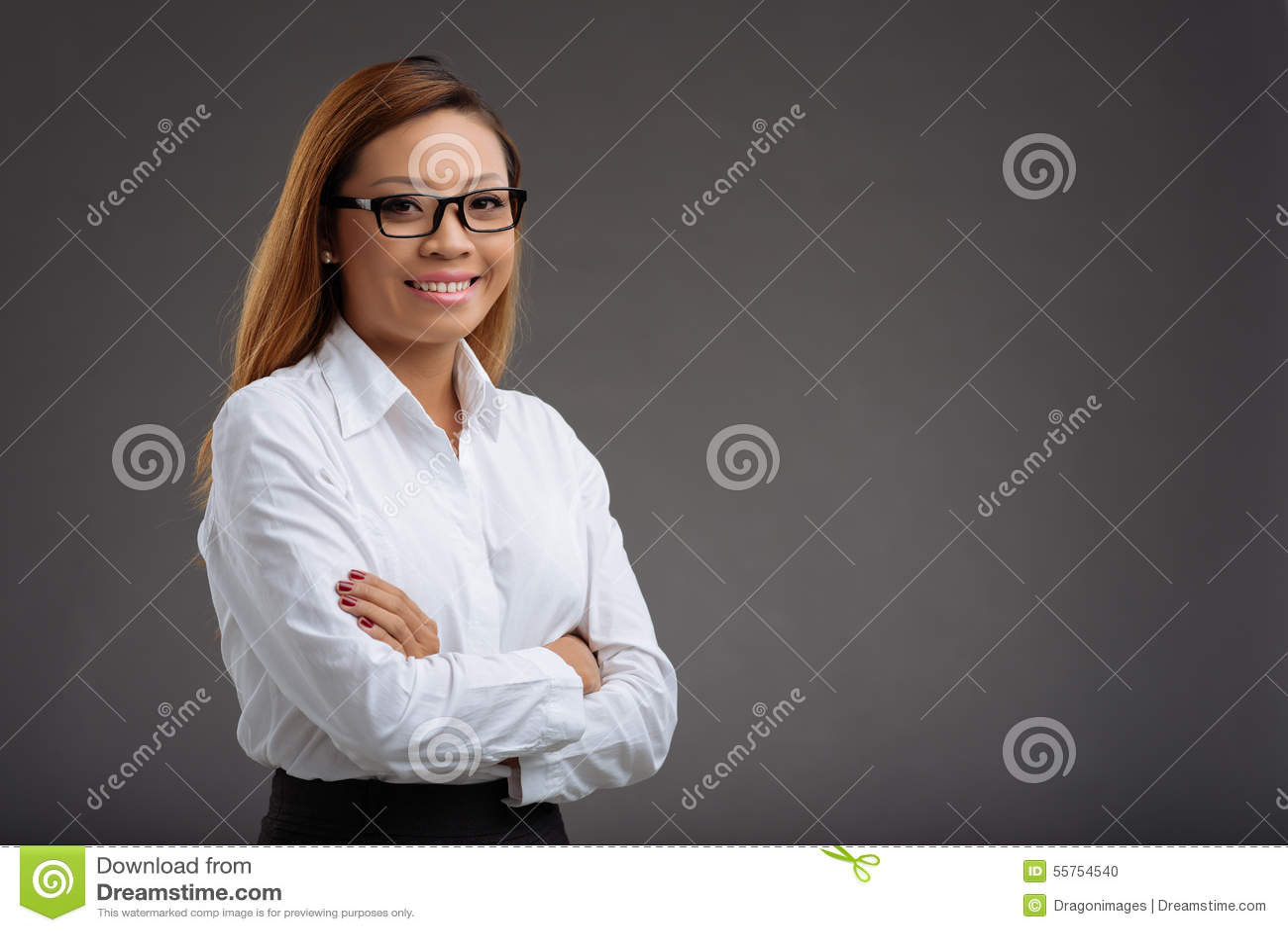 Vrolijke vrouwelijke manager