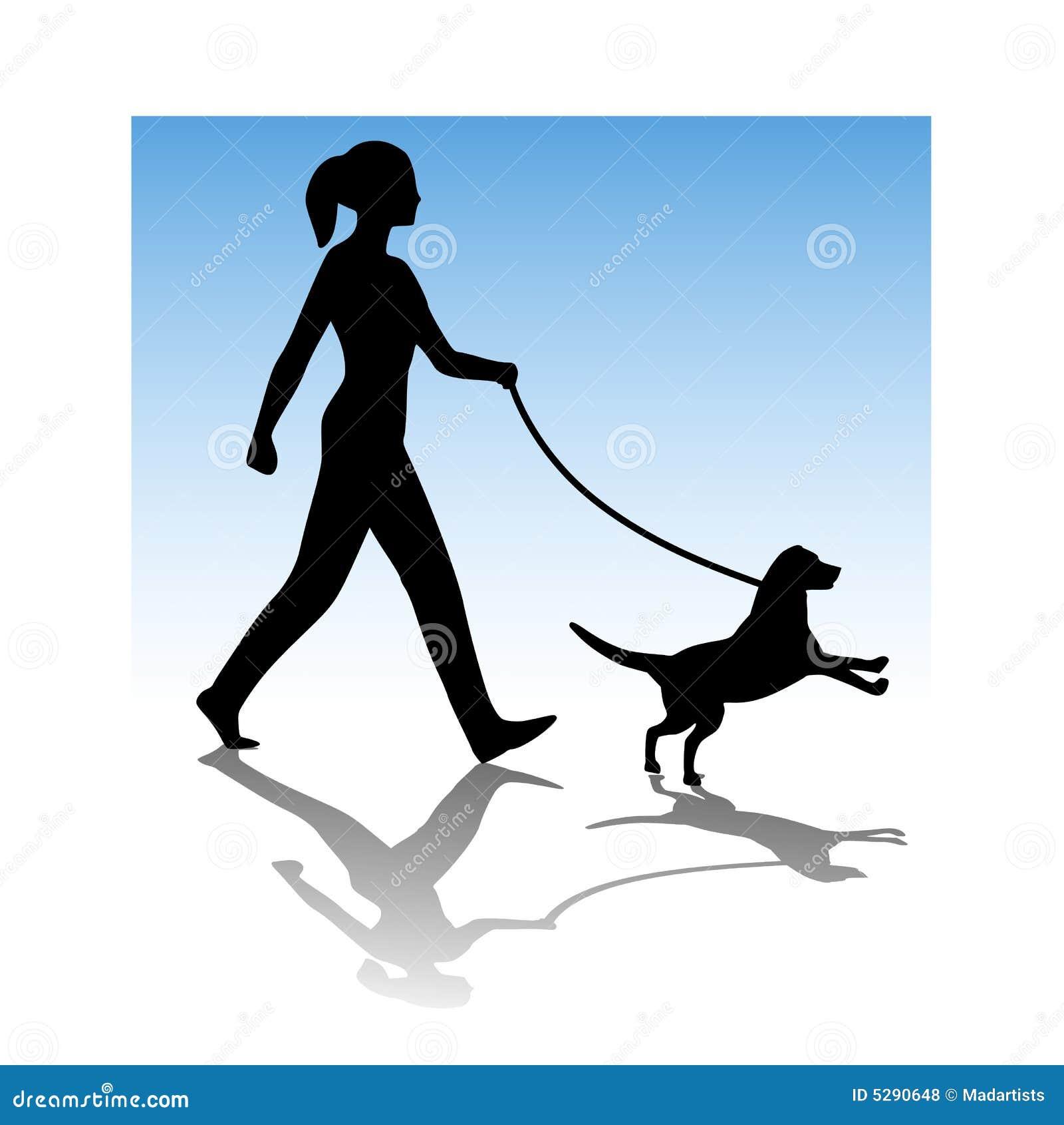 Vrouw die Jonge Hond loopt