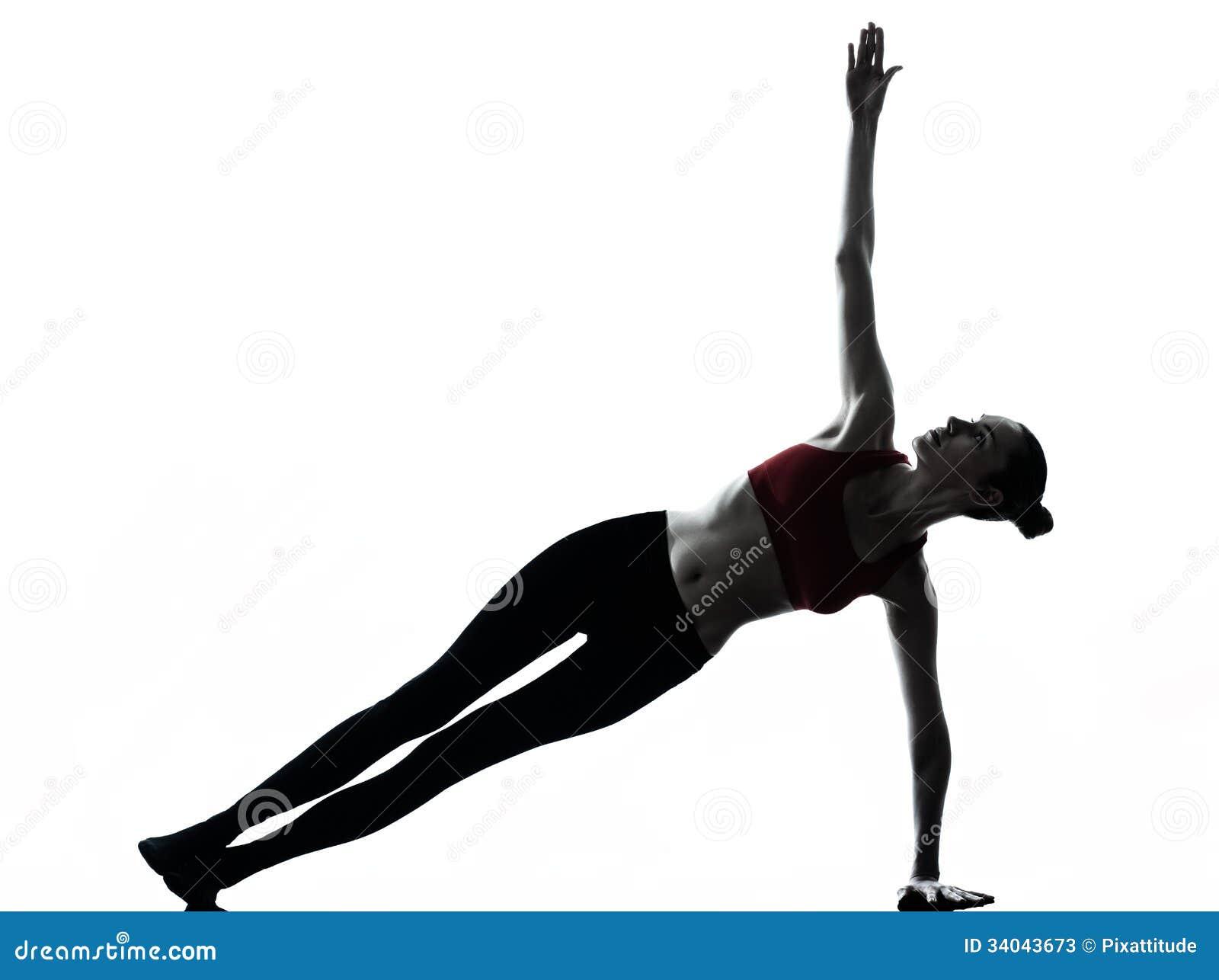 Vrouw die yoga uitoefenen