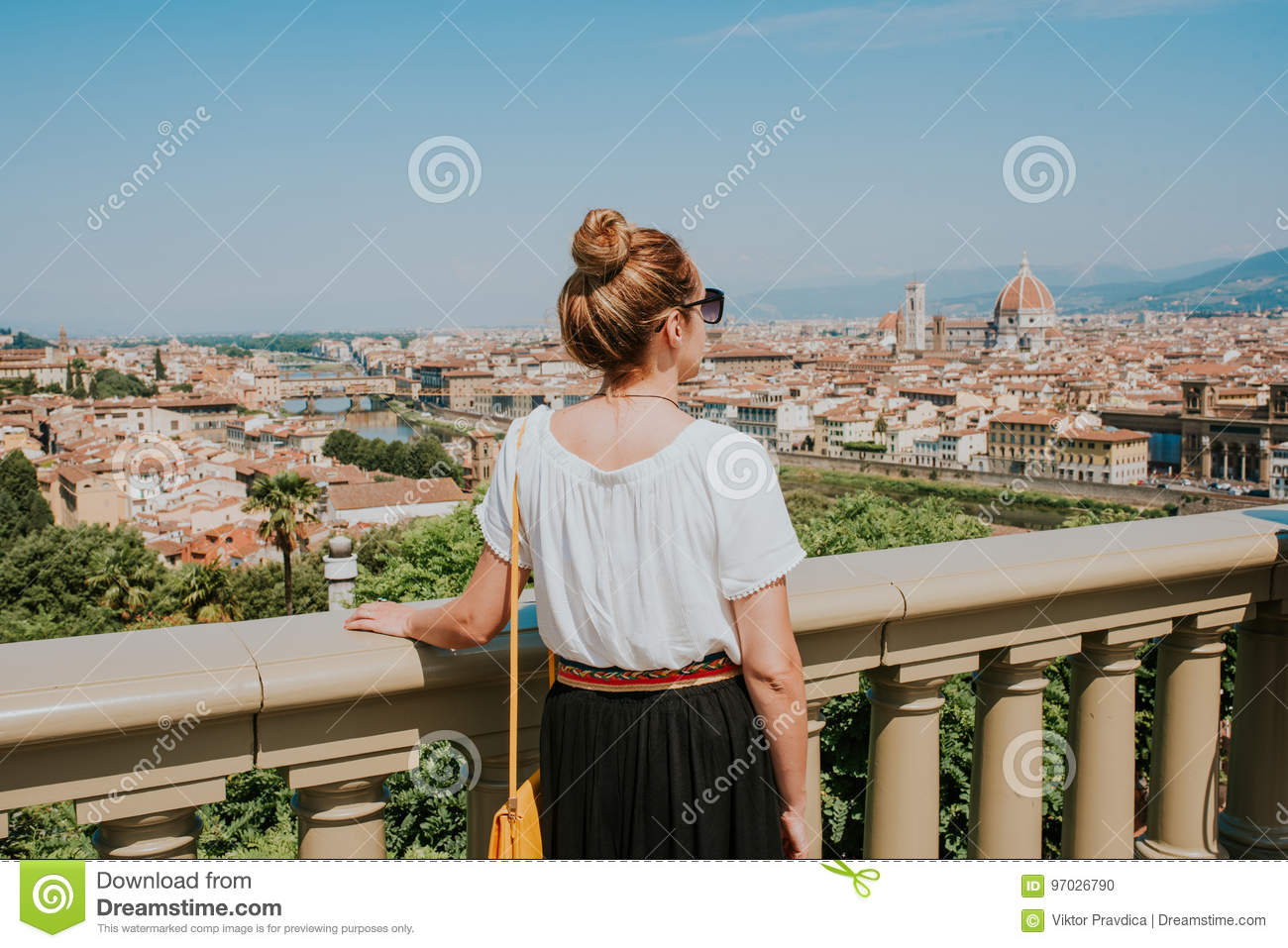 Vrouw in Florence