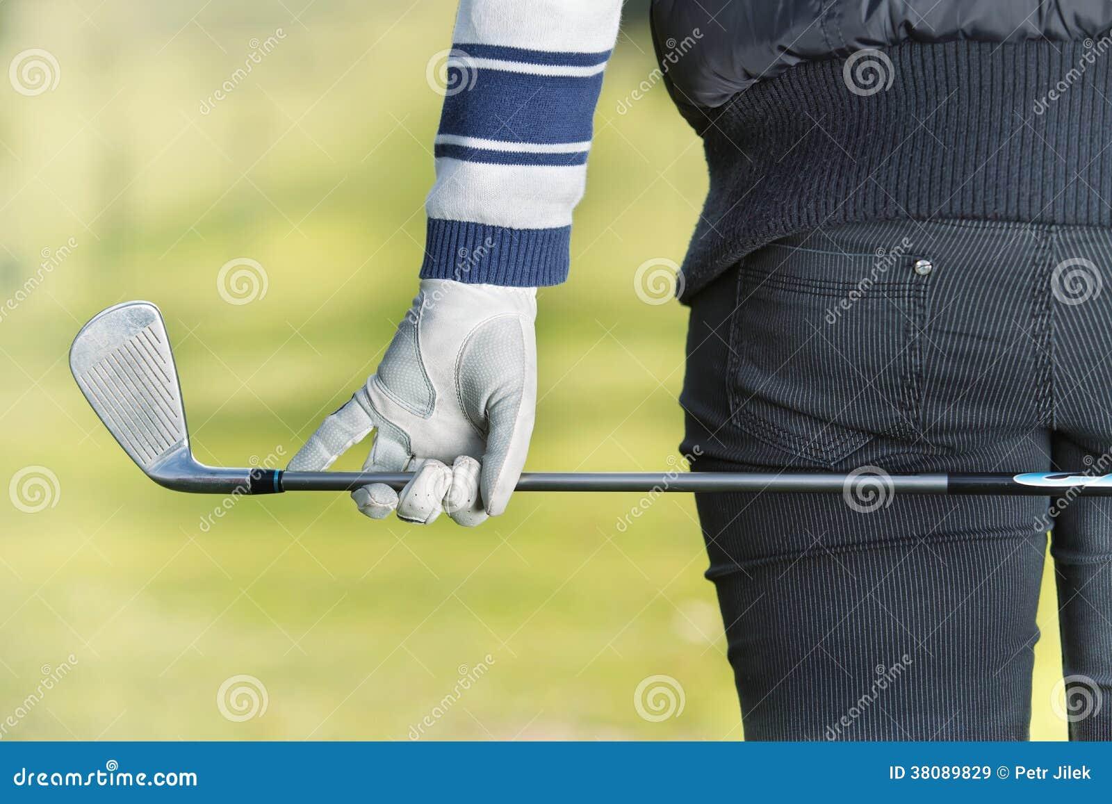 Vrouw - golfspeler