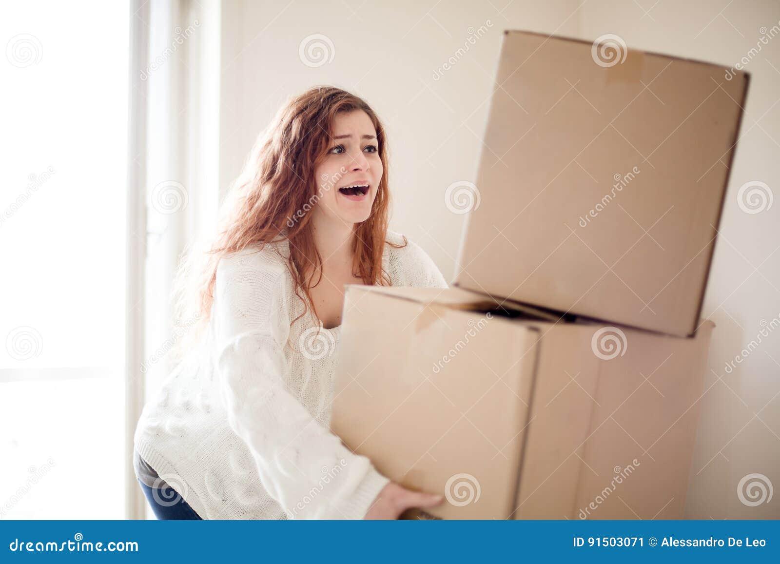 Vrouw het bewegen zich