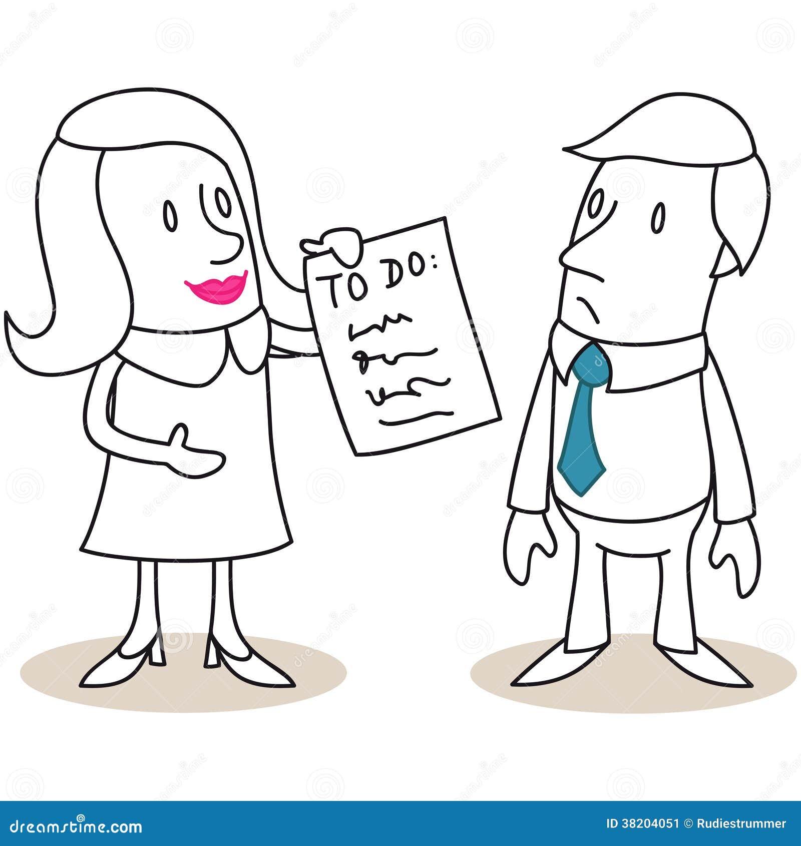 Vrouw het tonen aan-maakt van aan de mens een lijst