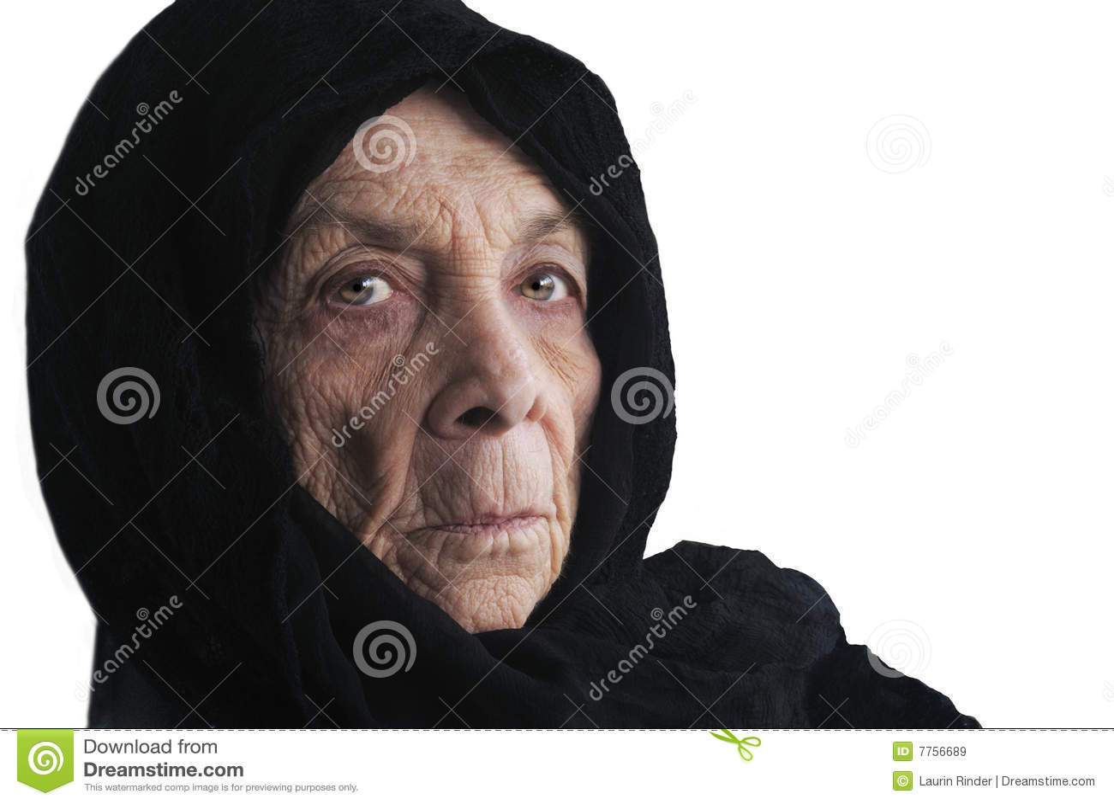 Vrouw in kaap