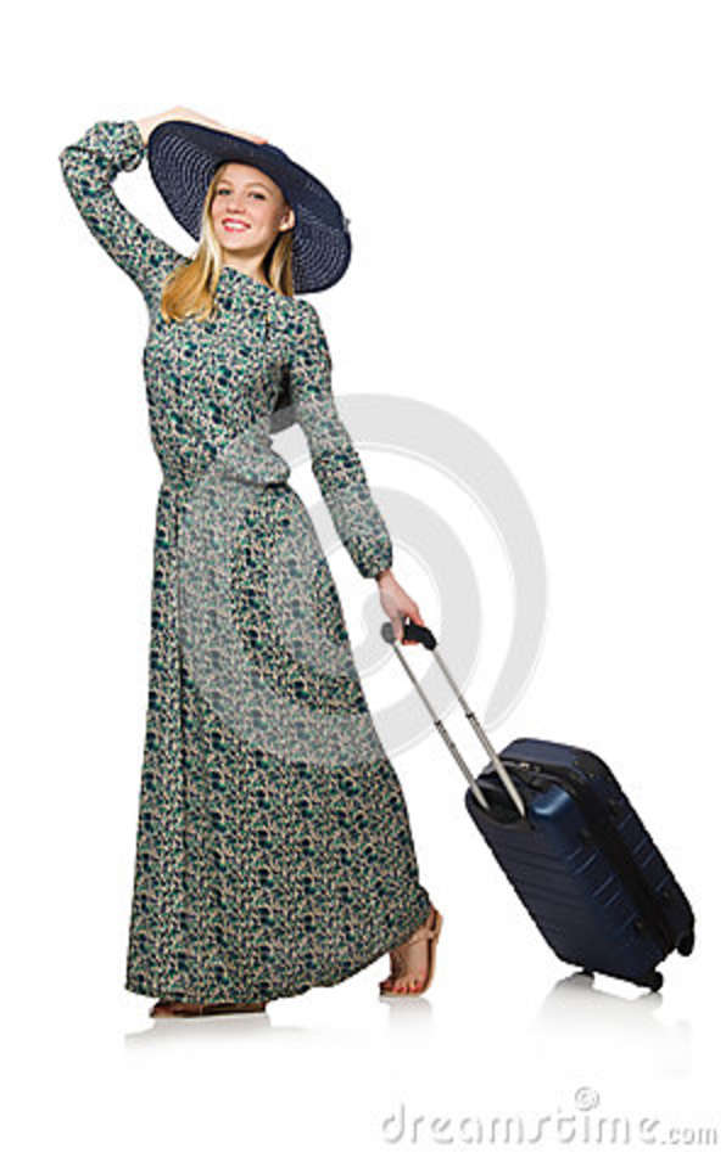 Vrouw klaar voor geïsoleerde de zomervakantie