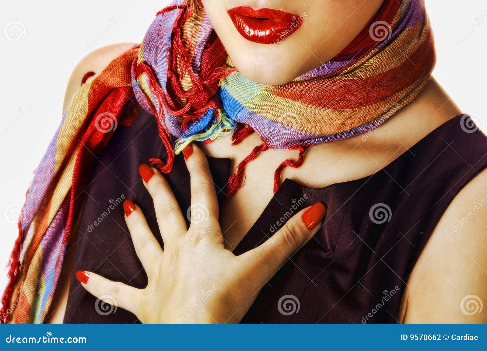 Vrouw met een sjaal