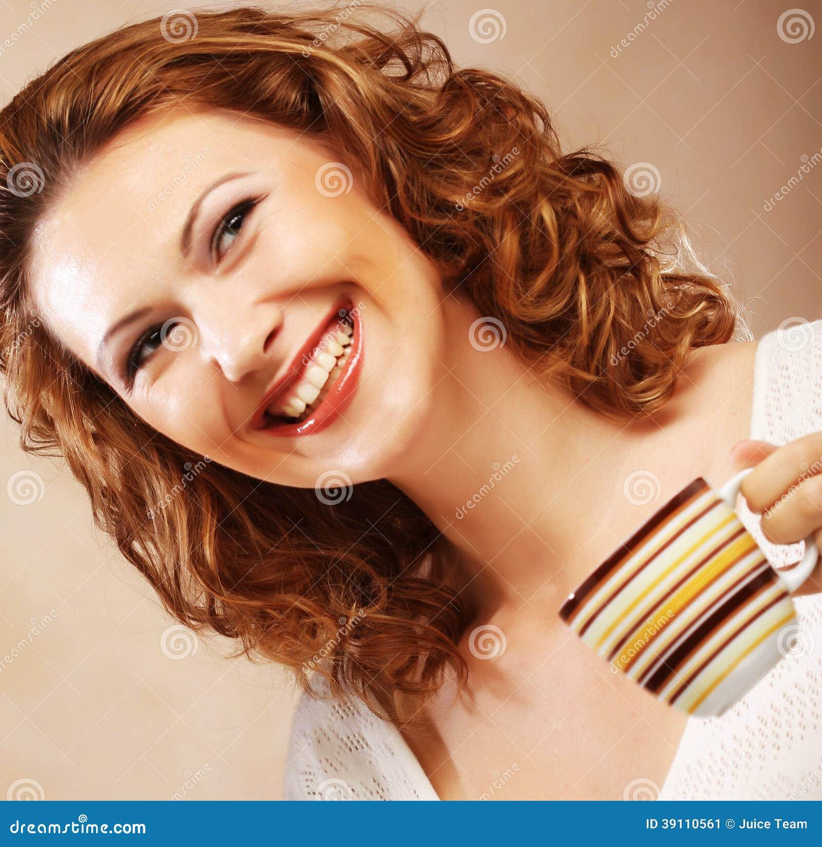 Vrouw met koffie