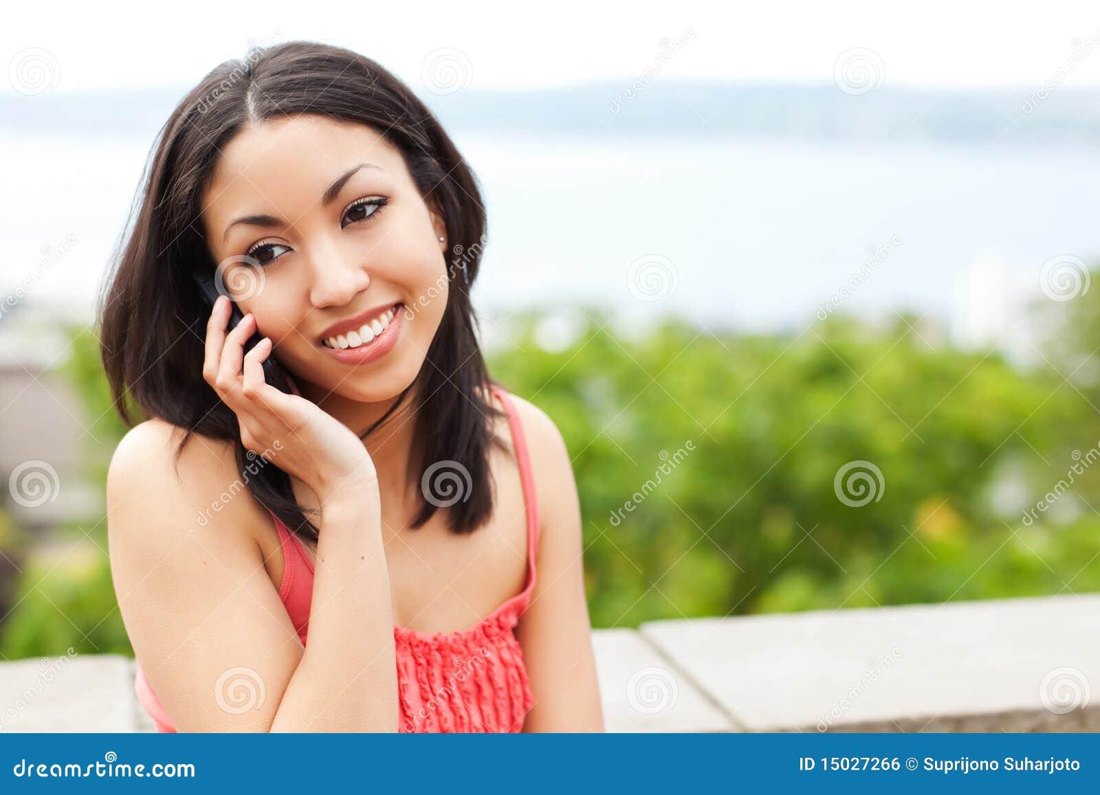 Vrouw op de telefoon