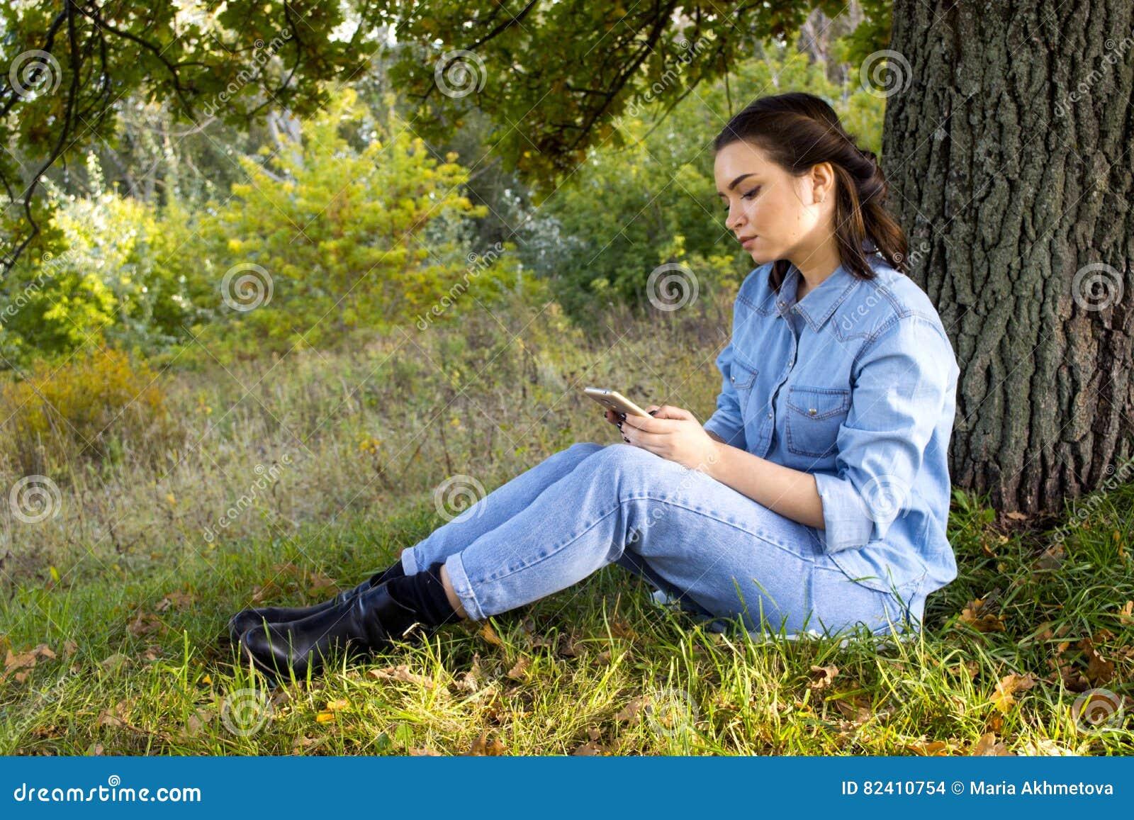 Vrouw op het gras