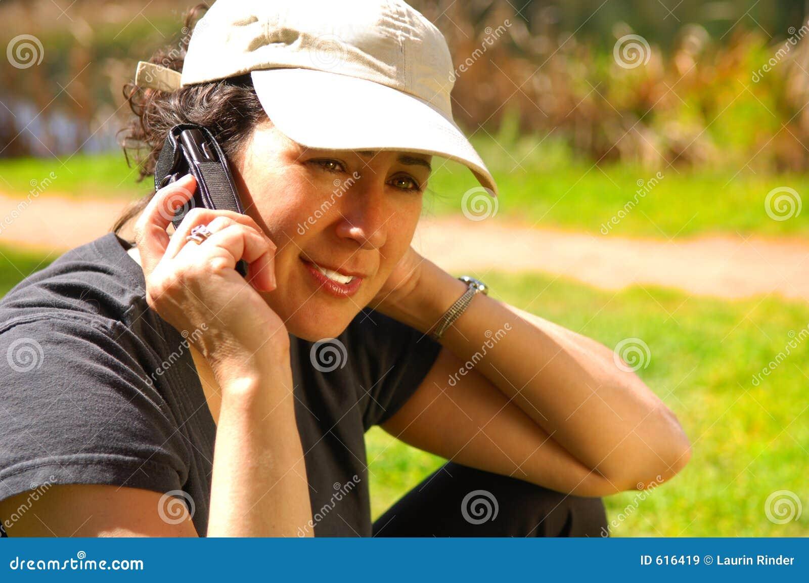Vrouw op Telefoon