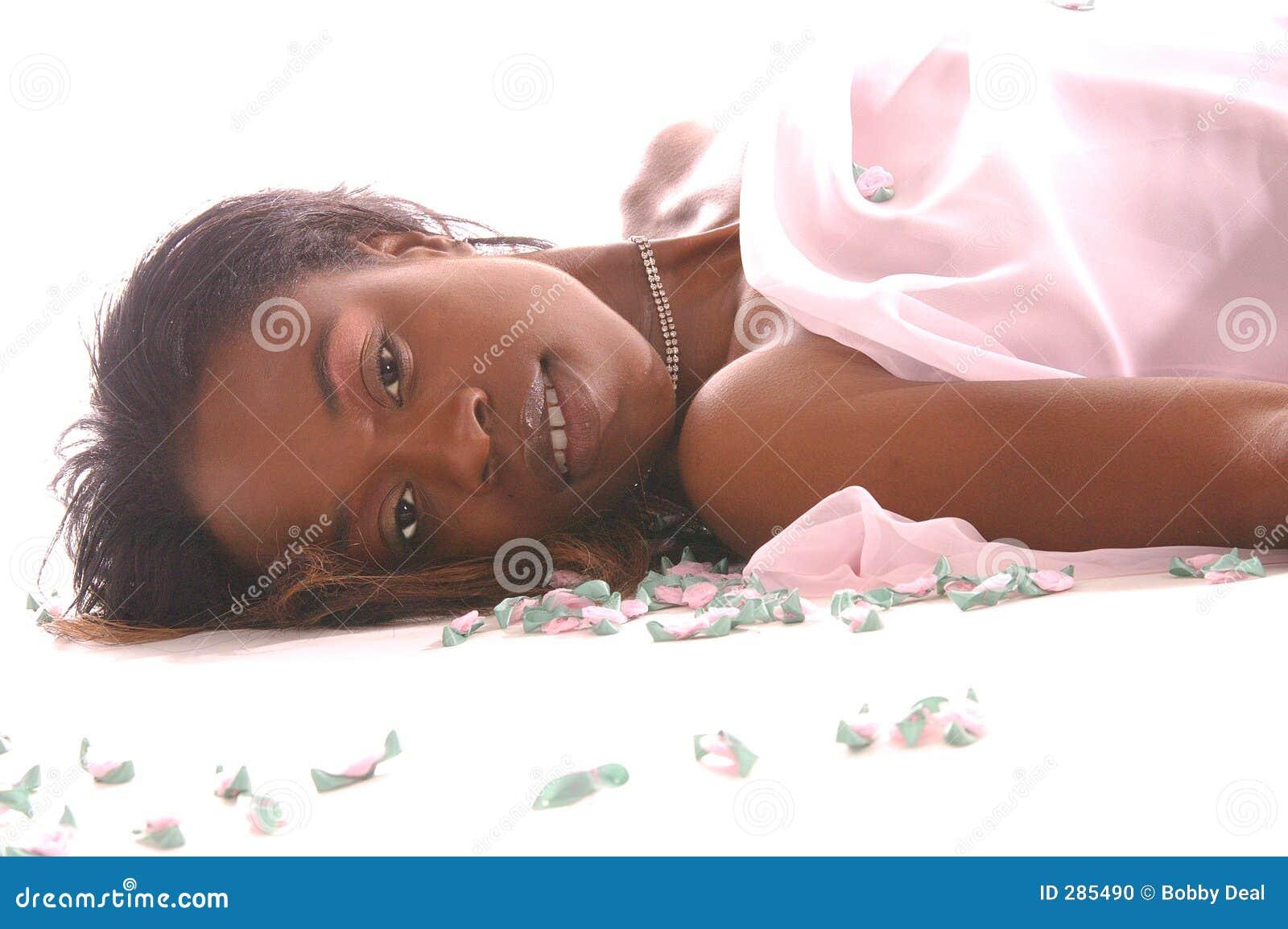 Vrouw in Roze