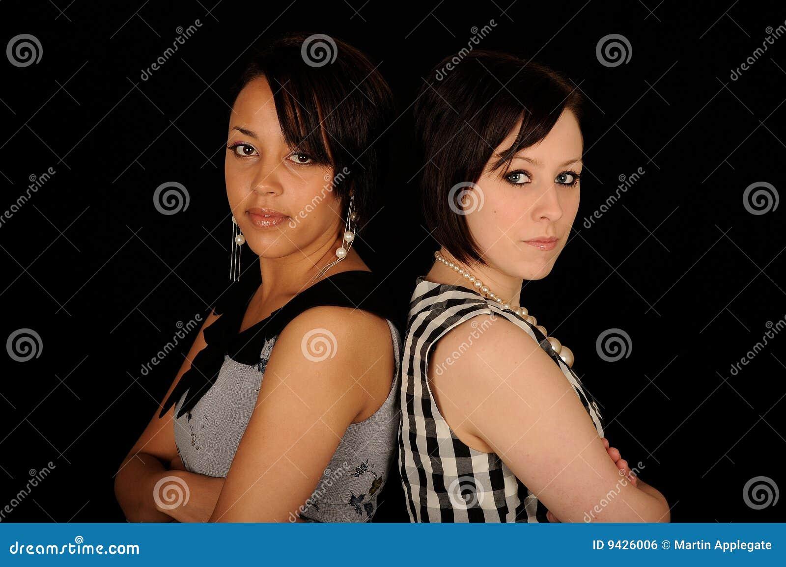 Vrouw twee rijtjes