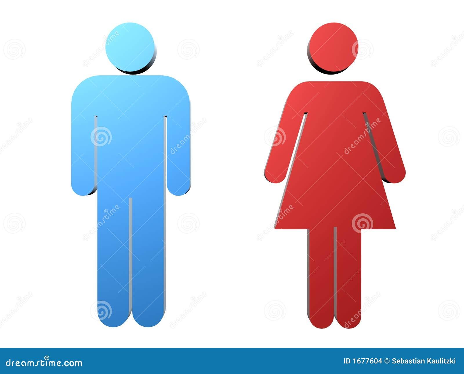 Vrouwelijk/mannelijk teken
