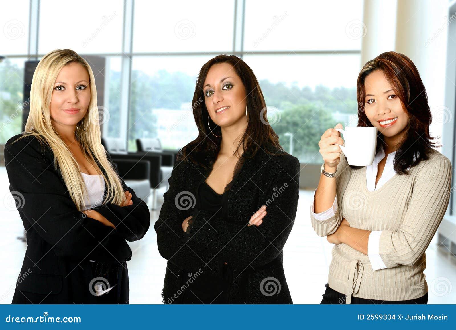 Vrouwelijk team, in bureau
