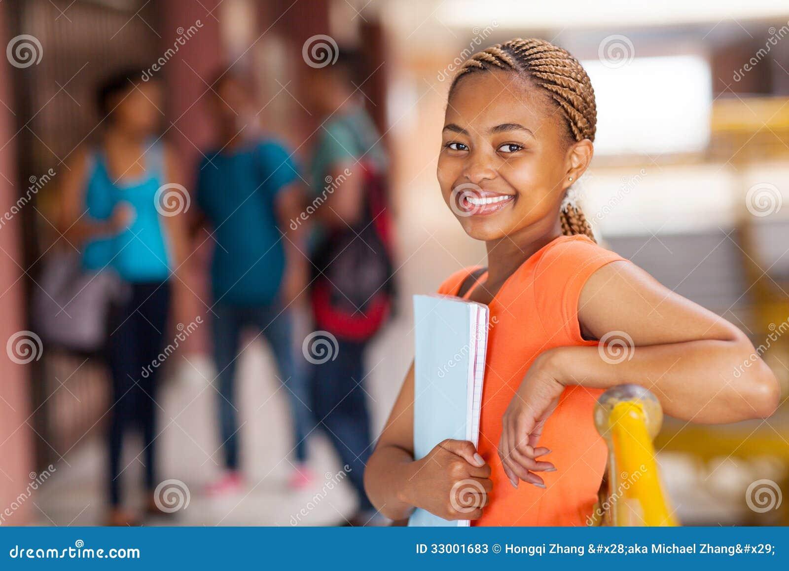 Vrouwelijke Afrikaanse Amerikaanse student