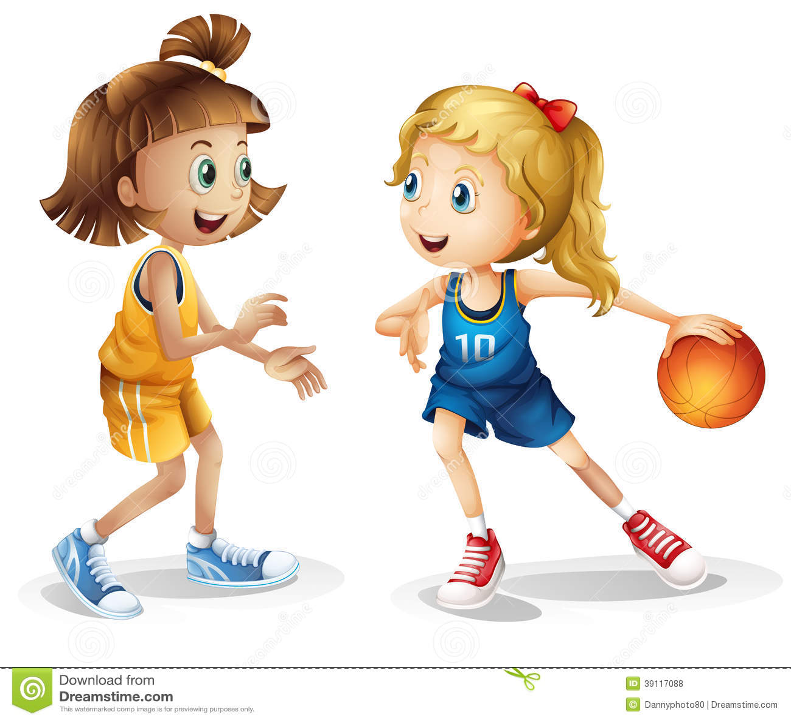 Vrouwelijke basketbalspelers