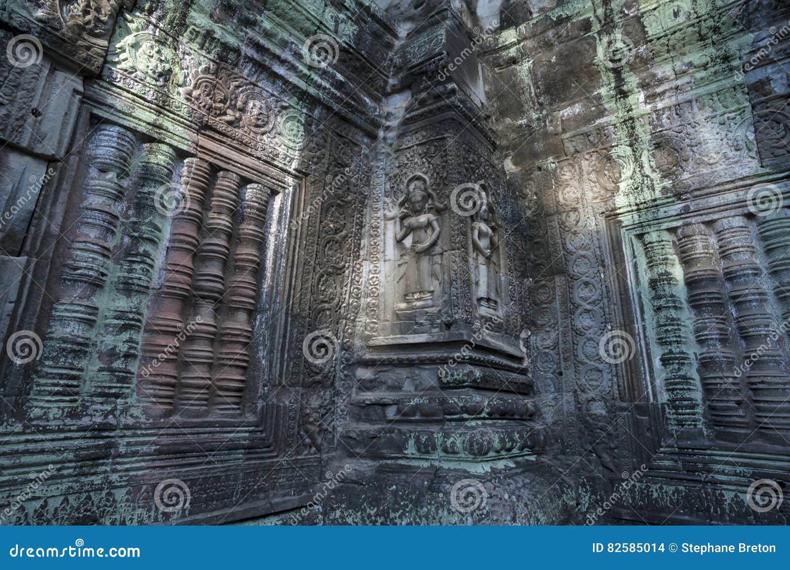 Vrouwelijke Deities bij de Tempel van Ta Prohm