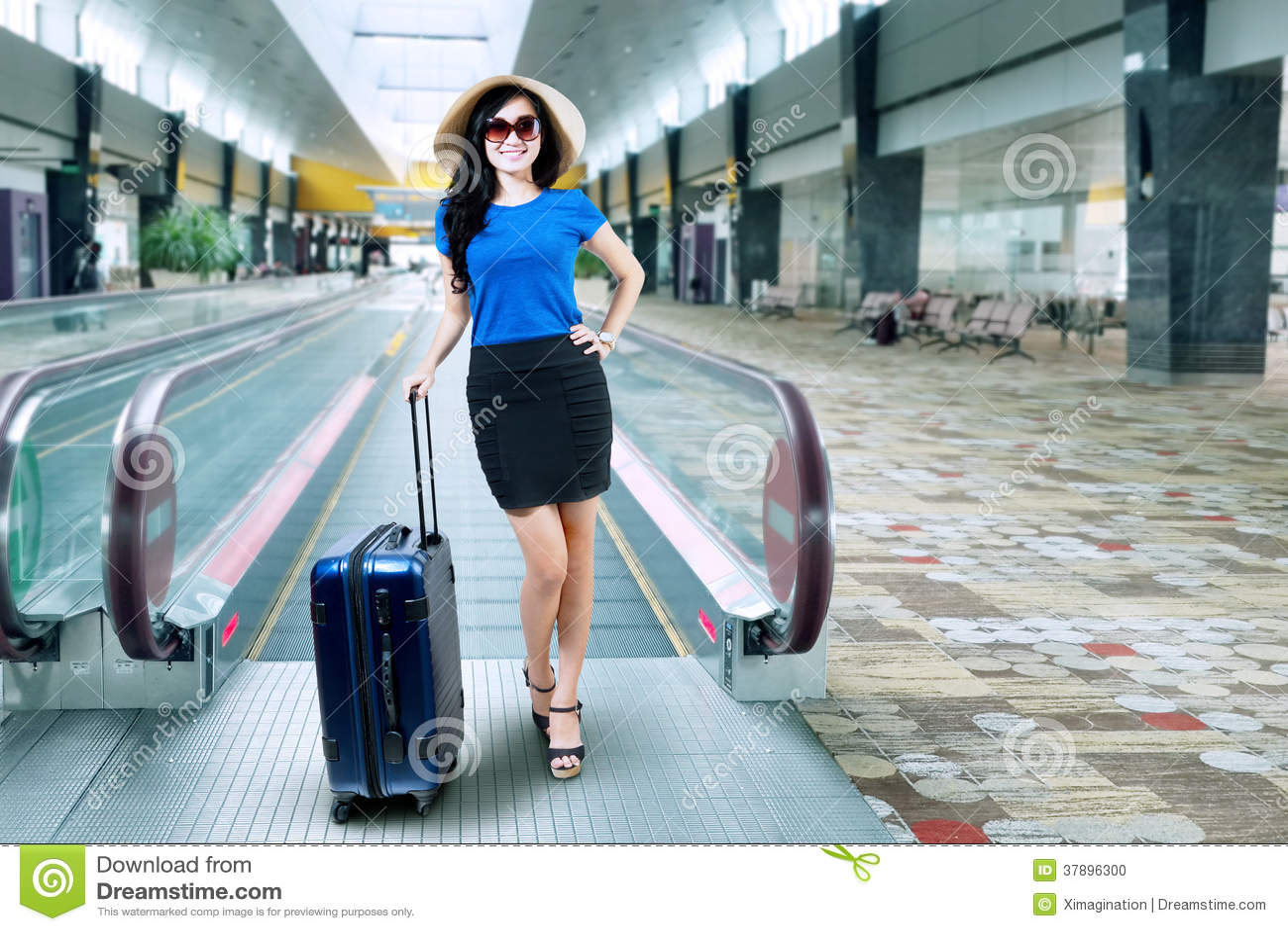 Vrouwelijke passagier