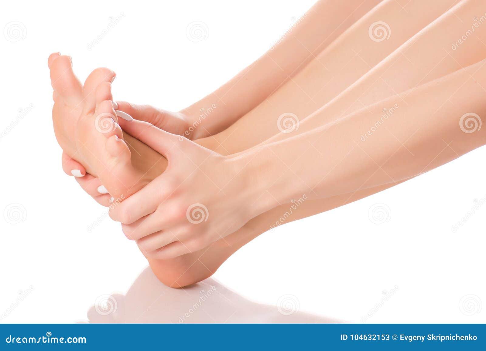 Download Vrouwelijke Van De Hielvoeten Massage Stock Afbeelding - Afbeelding bestaande uit lichaam, massage: 104632153