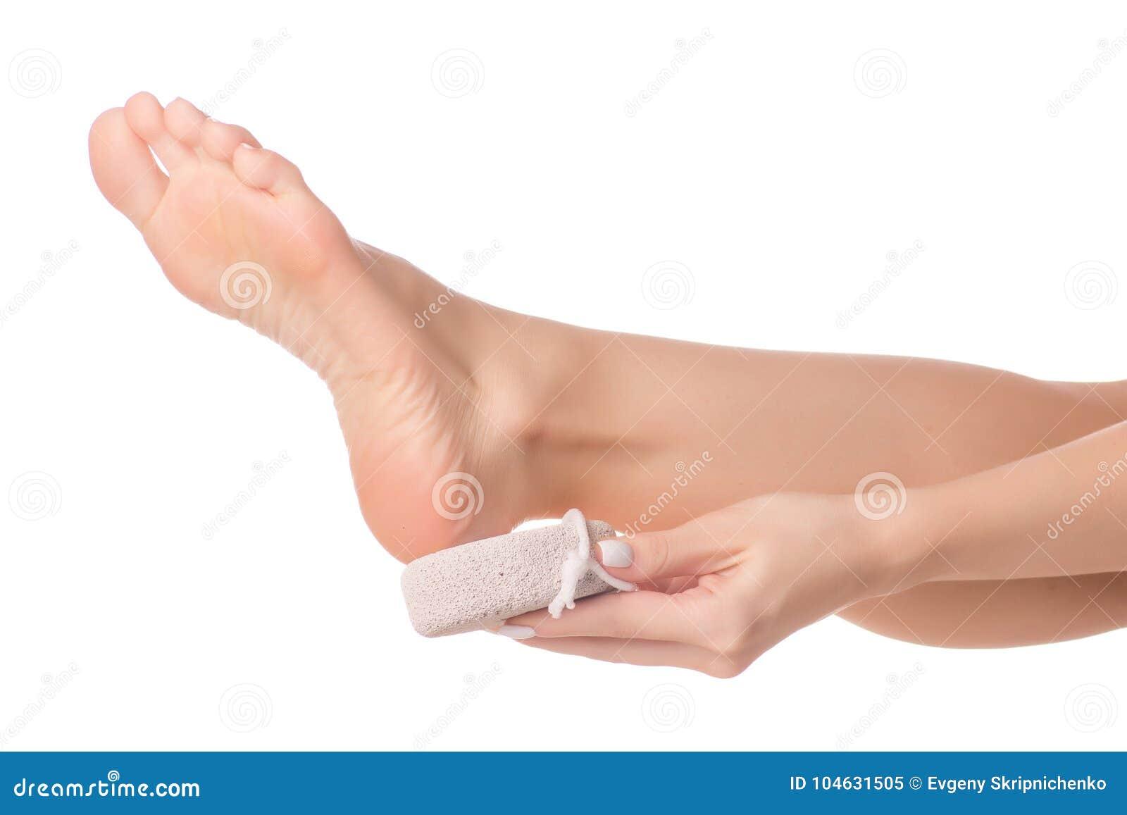 Download Vrouwelijke Voeten Van De Hielsteen Het Puim Stock Afbeelding - Afbeelding bestaande uit hebbend, clean: 104631505
