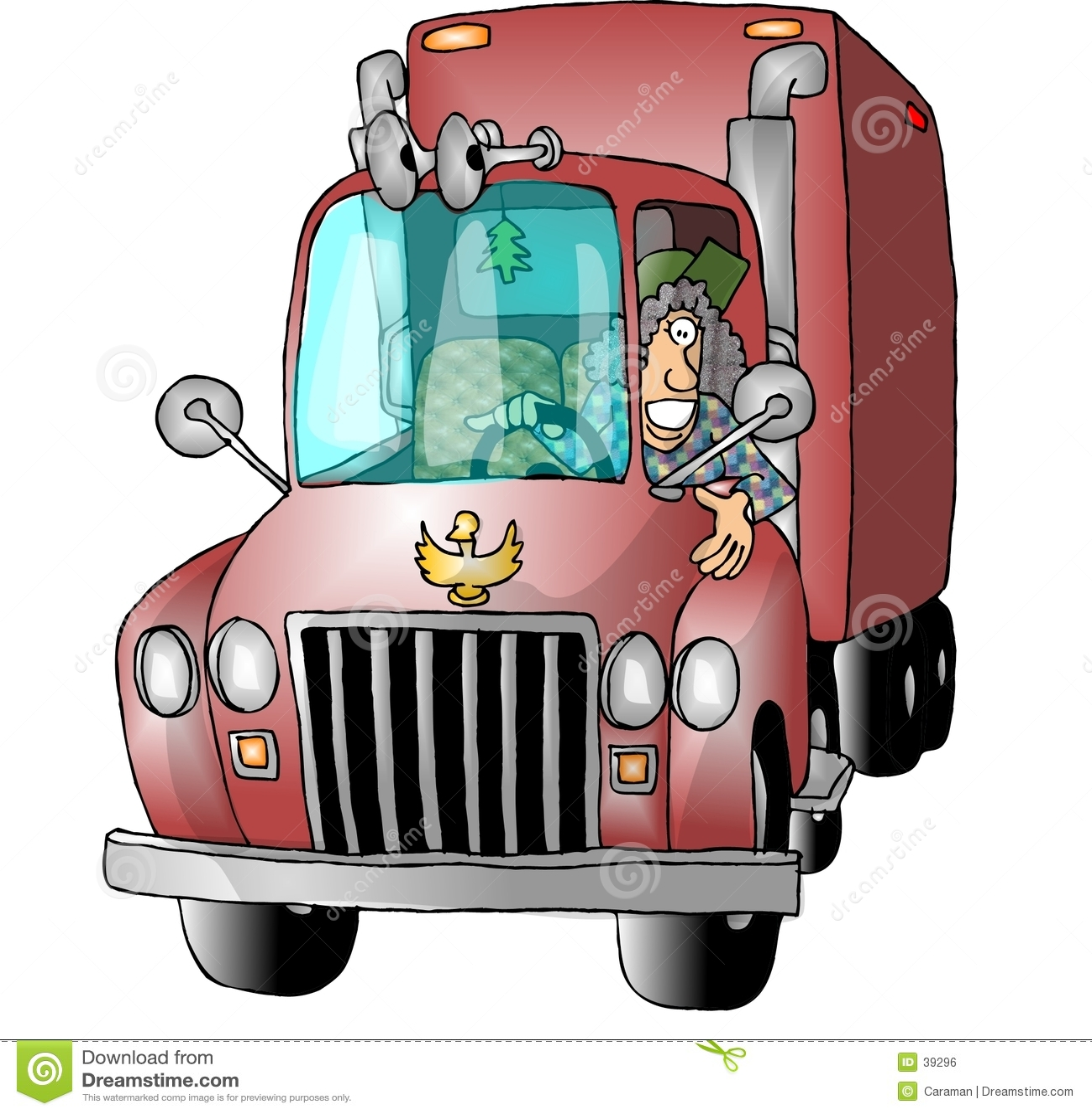 Vrouwelijke Vrachtwagenchauffeur