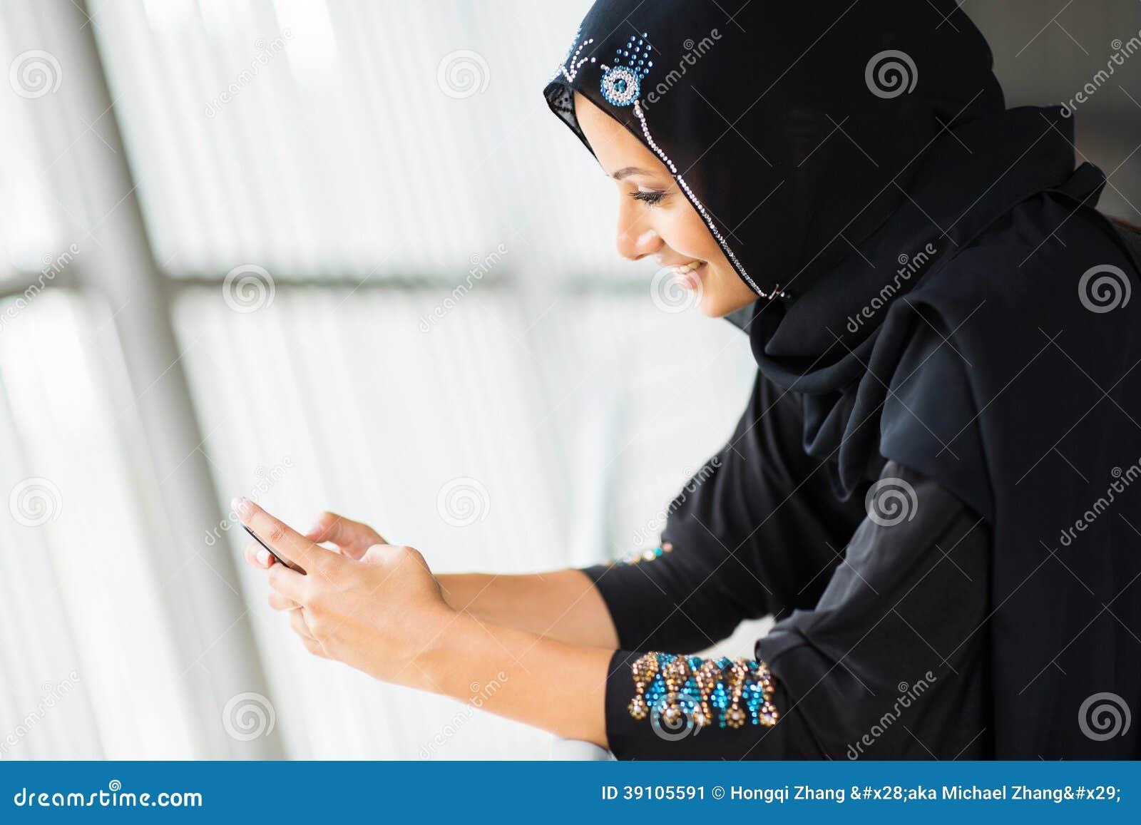 Vrouwen de slimme telefoon van het Middenoosten