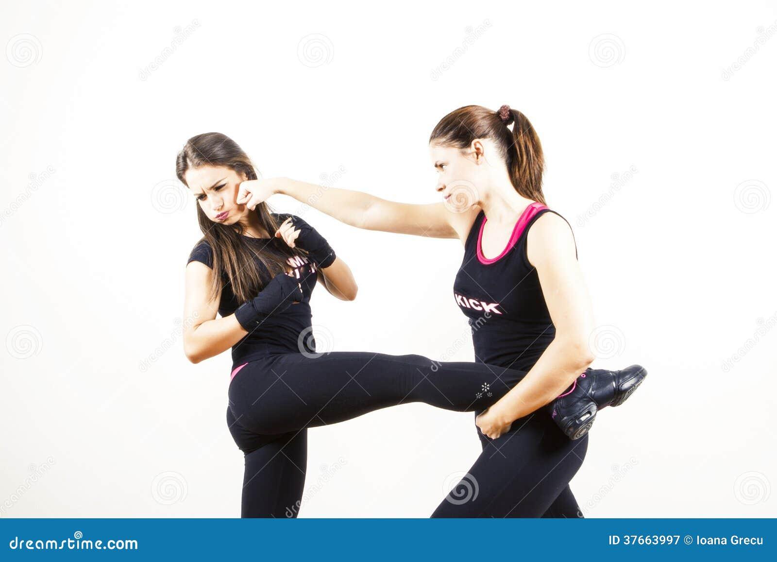 Vrouwen het vechten