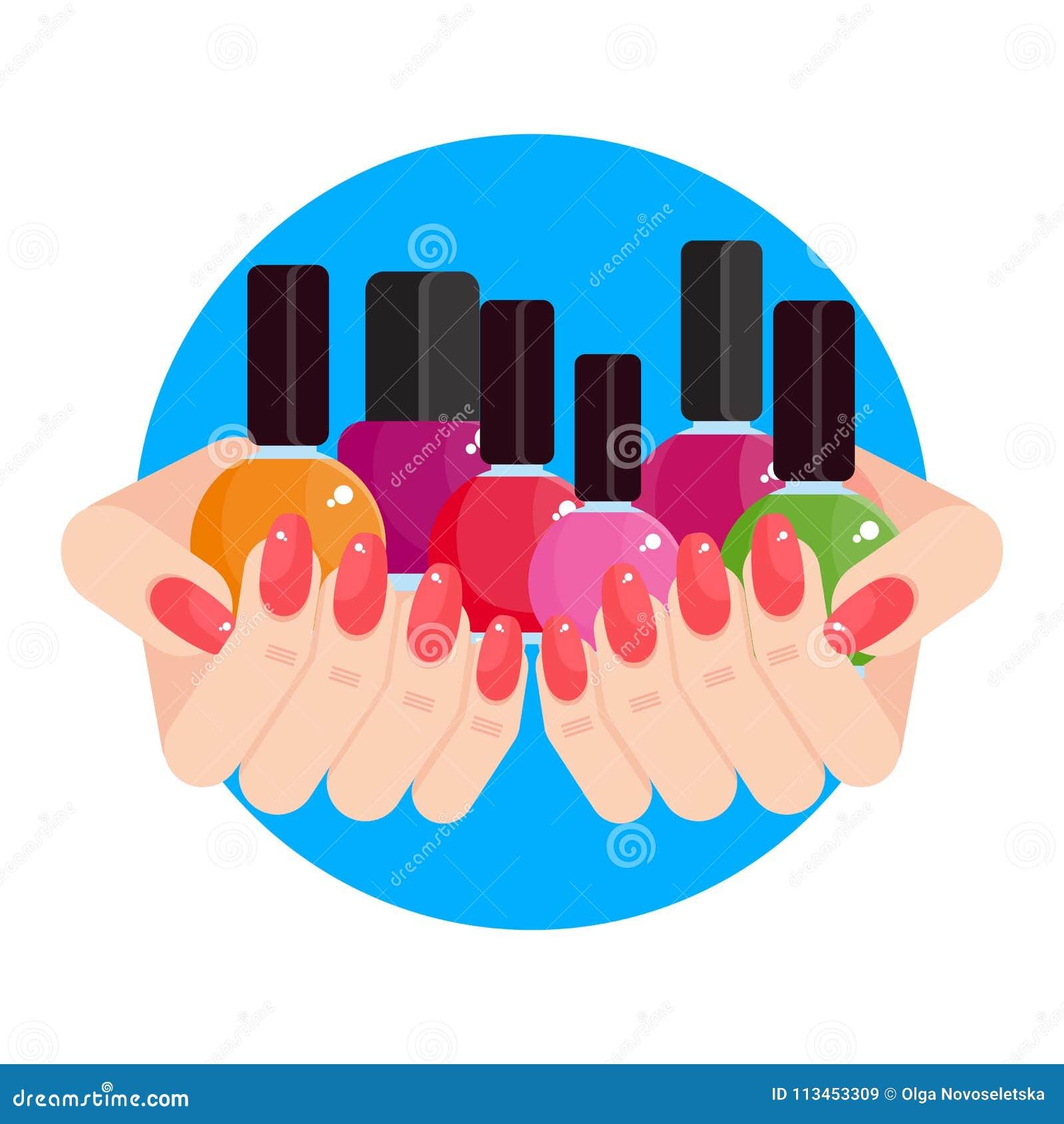 Vrouwenhanden met nagellak