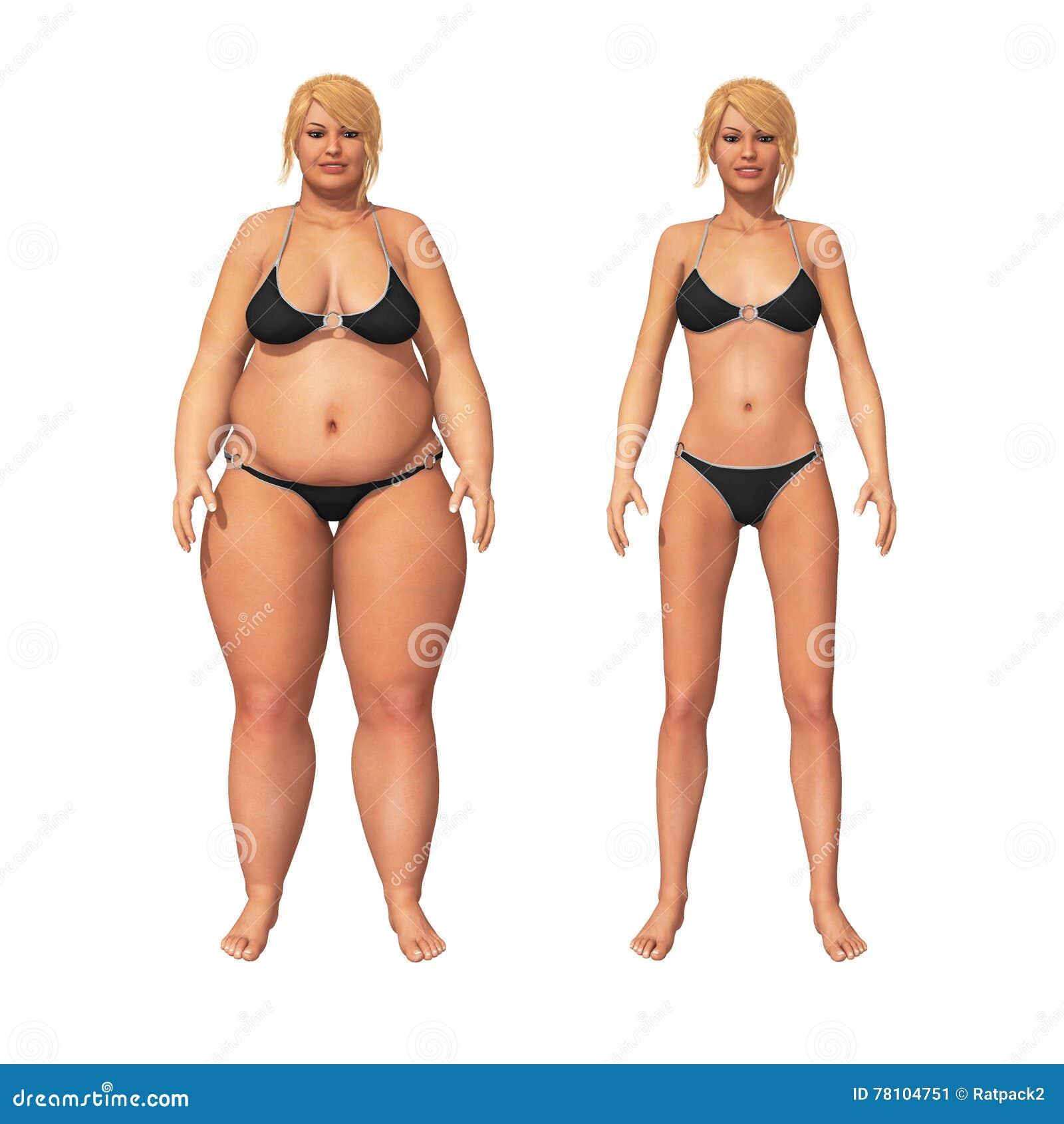 Vrouwenvet om de Transformatie van het Gewichtsverlies te verdunnen