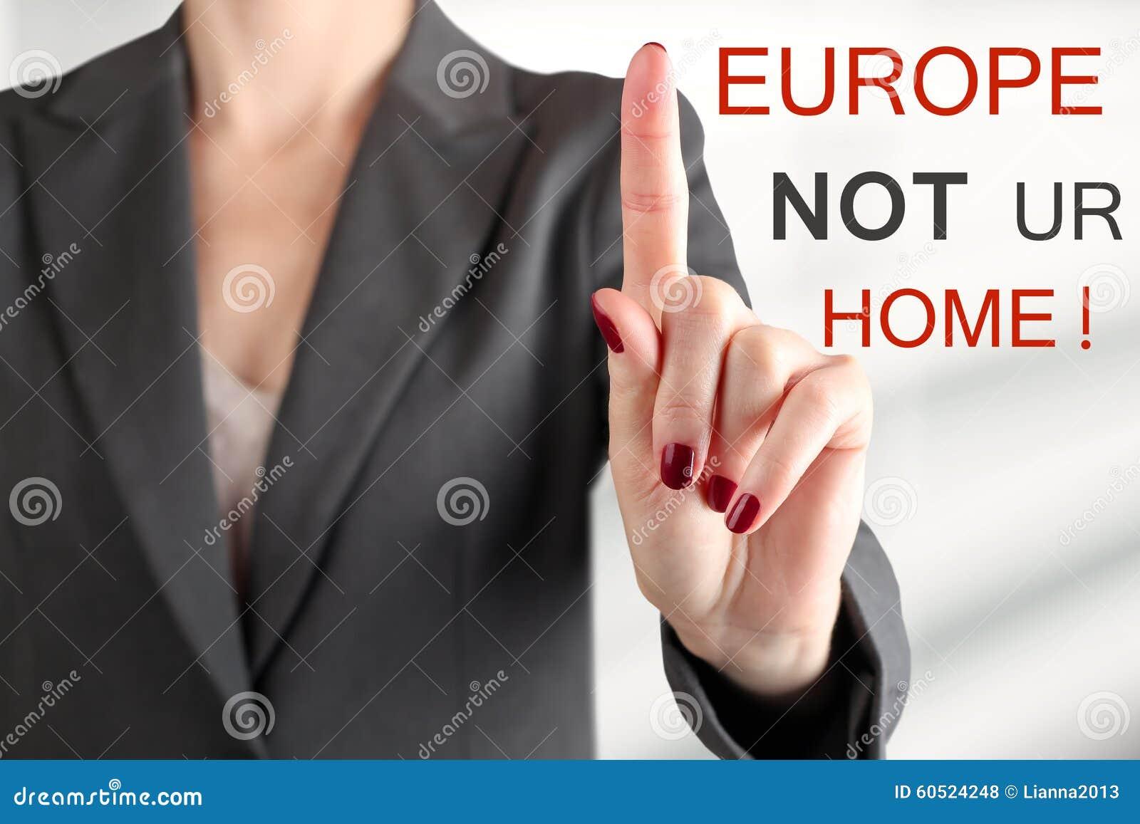 Vrouwenwaarschuwing Eindevluchtelingen Europa is niet uw huis