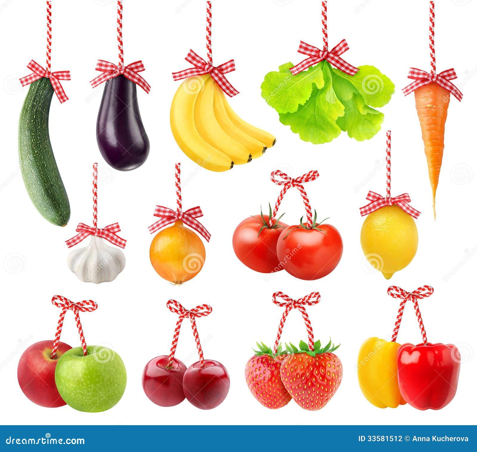 Vruchten en groenten als Kerstmisdecoratie