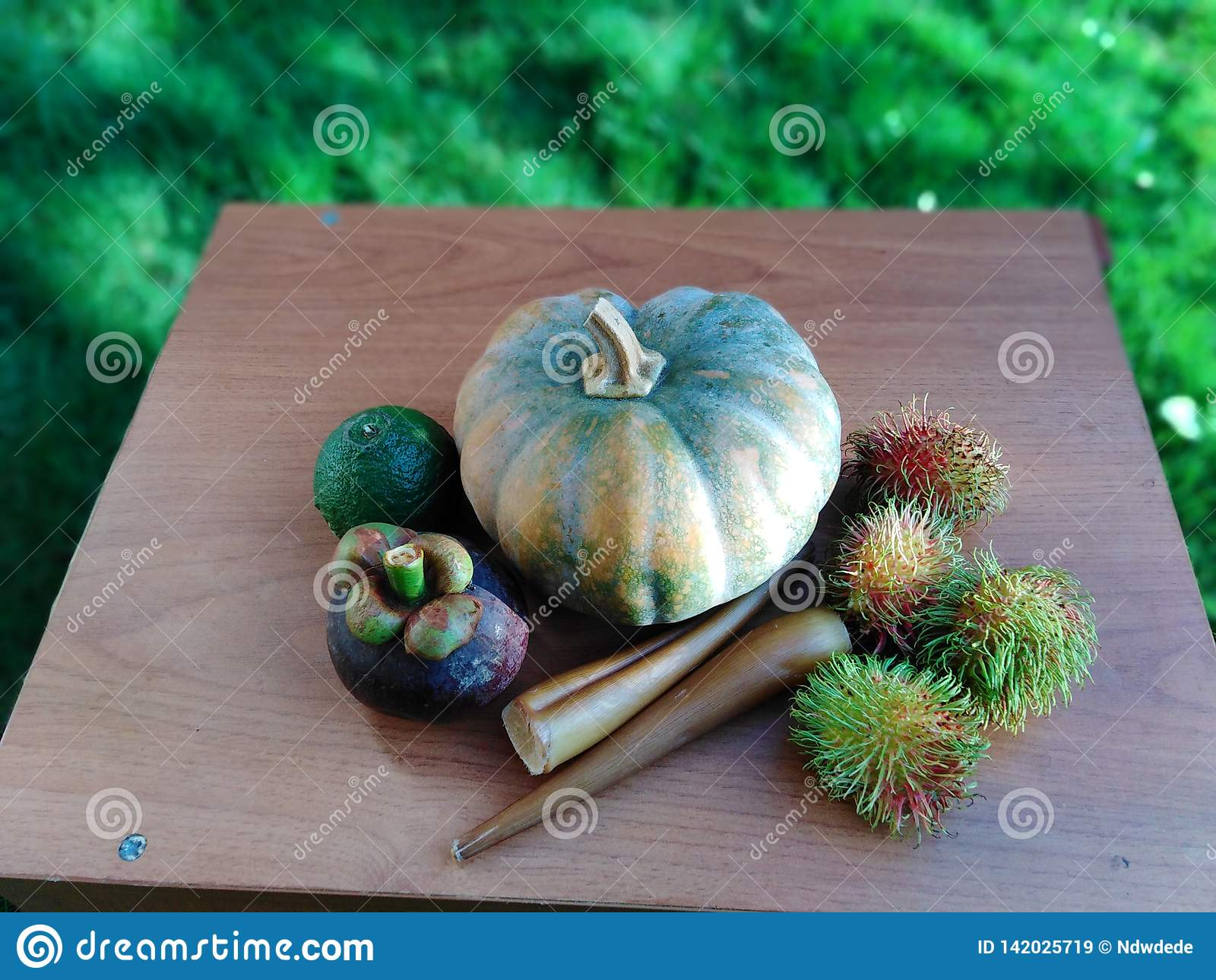 Vruchten en Groenten op Lijst