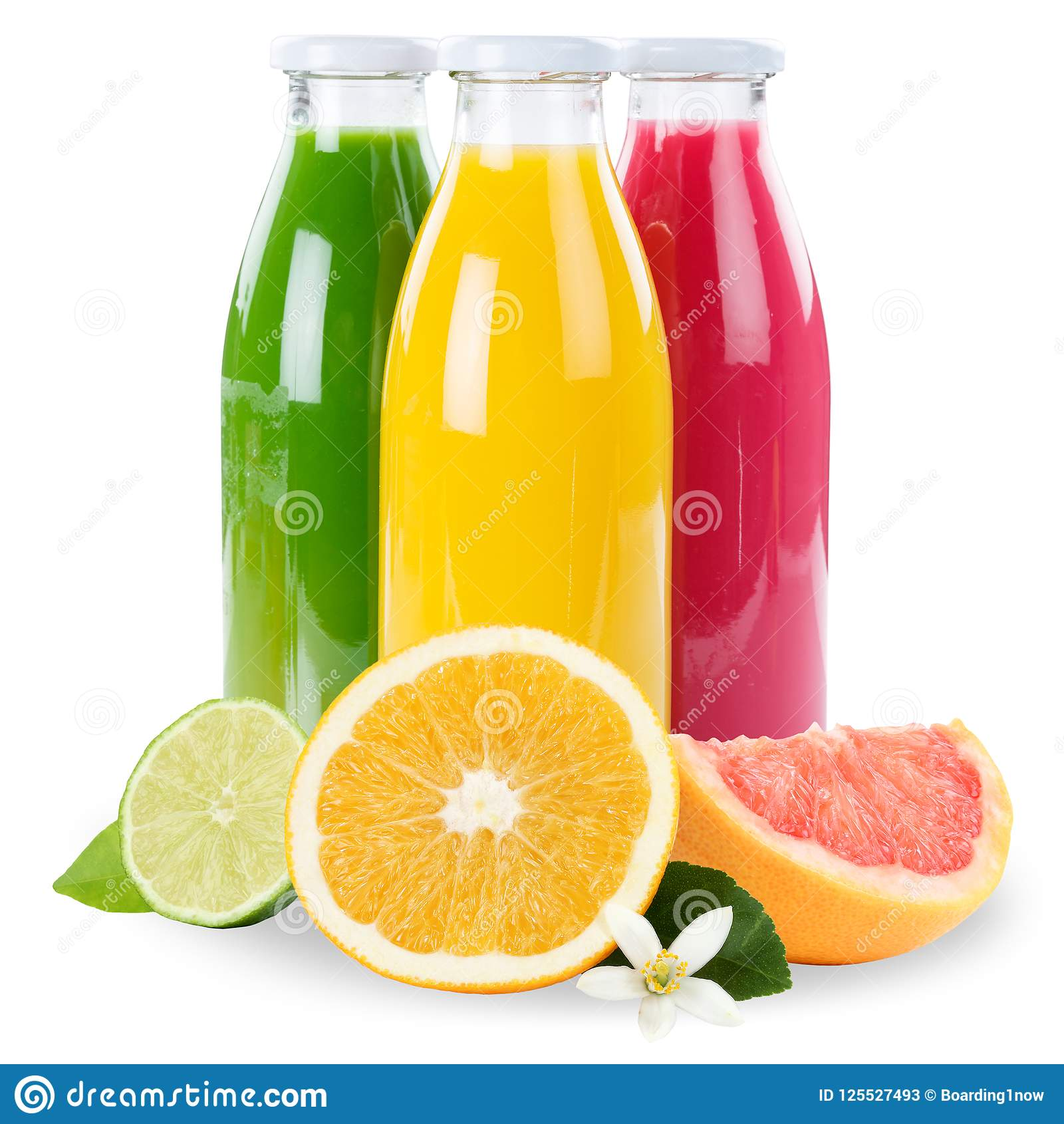 Vruchten van het sap smoothie zijn de oranje fruit smoothies in flessenvierkant