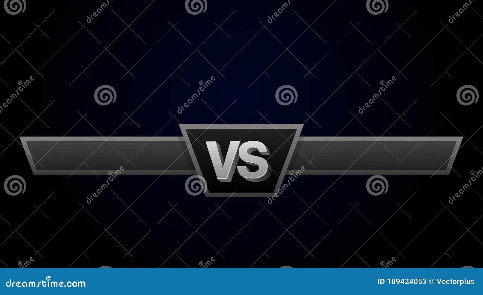 VS duellutmaningillustration Kontra bräde av rivaler, med utrymme för text