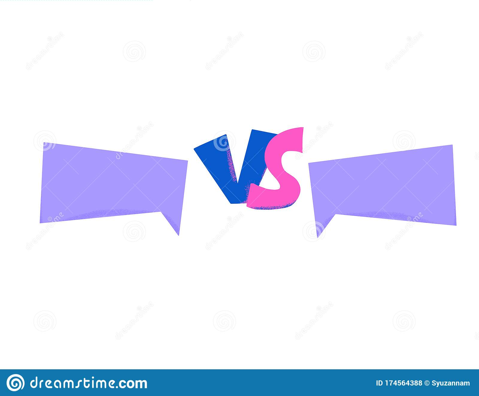 Vs Screen Versus Vector Sign With Copy Space Stock Vector