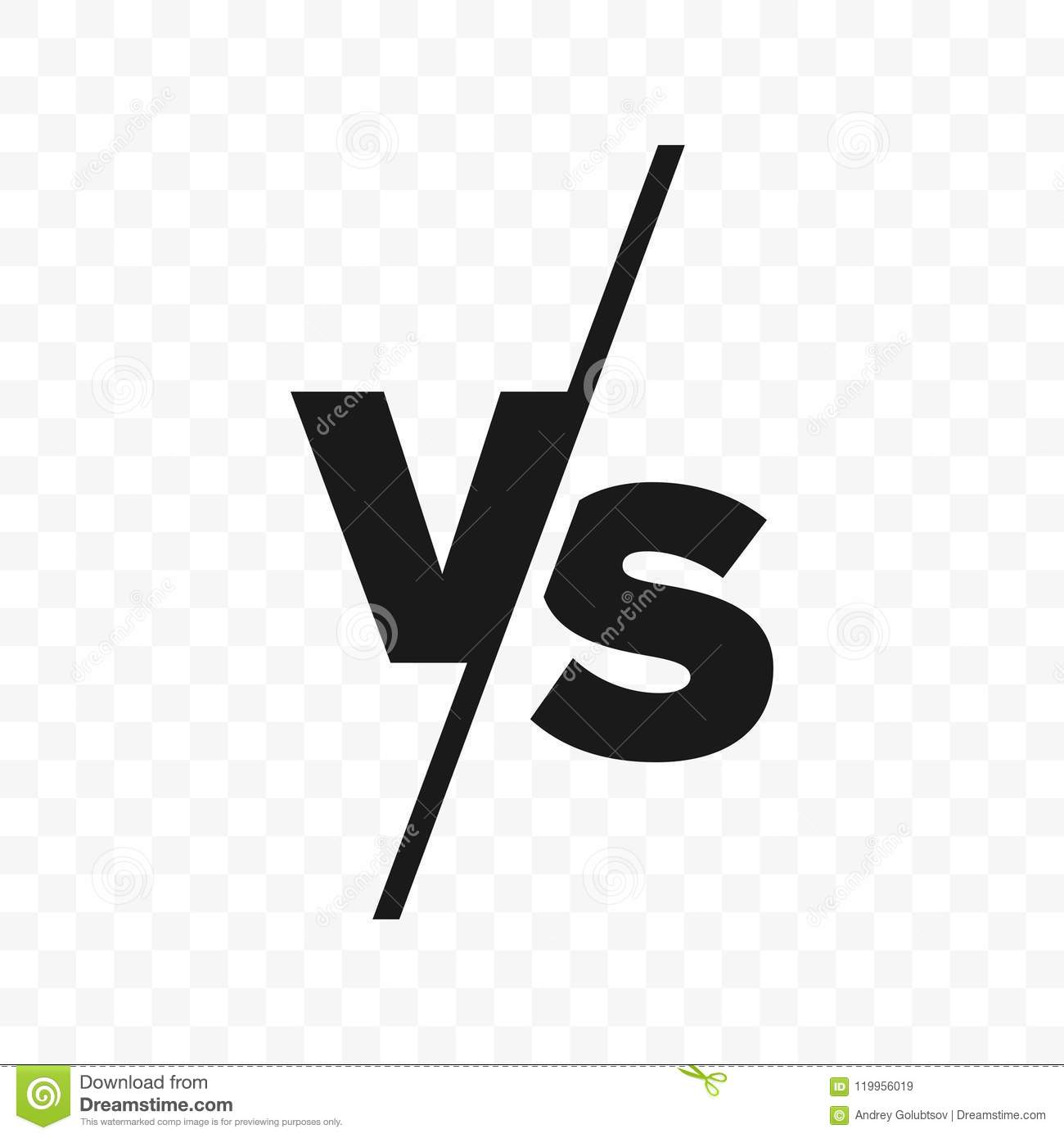 VS Versus Letters Vector Icon Stock Vector - Illustration of ...
