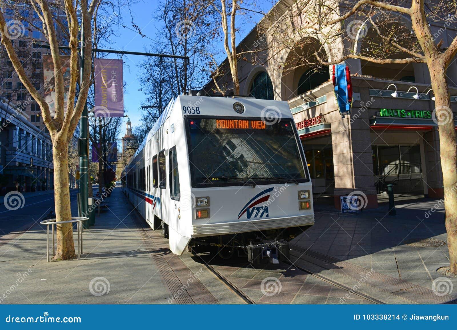 Download VTA Light Rail In San Jose, California, USA Editorial Stock Image    Image