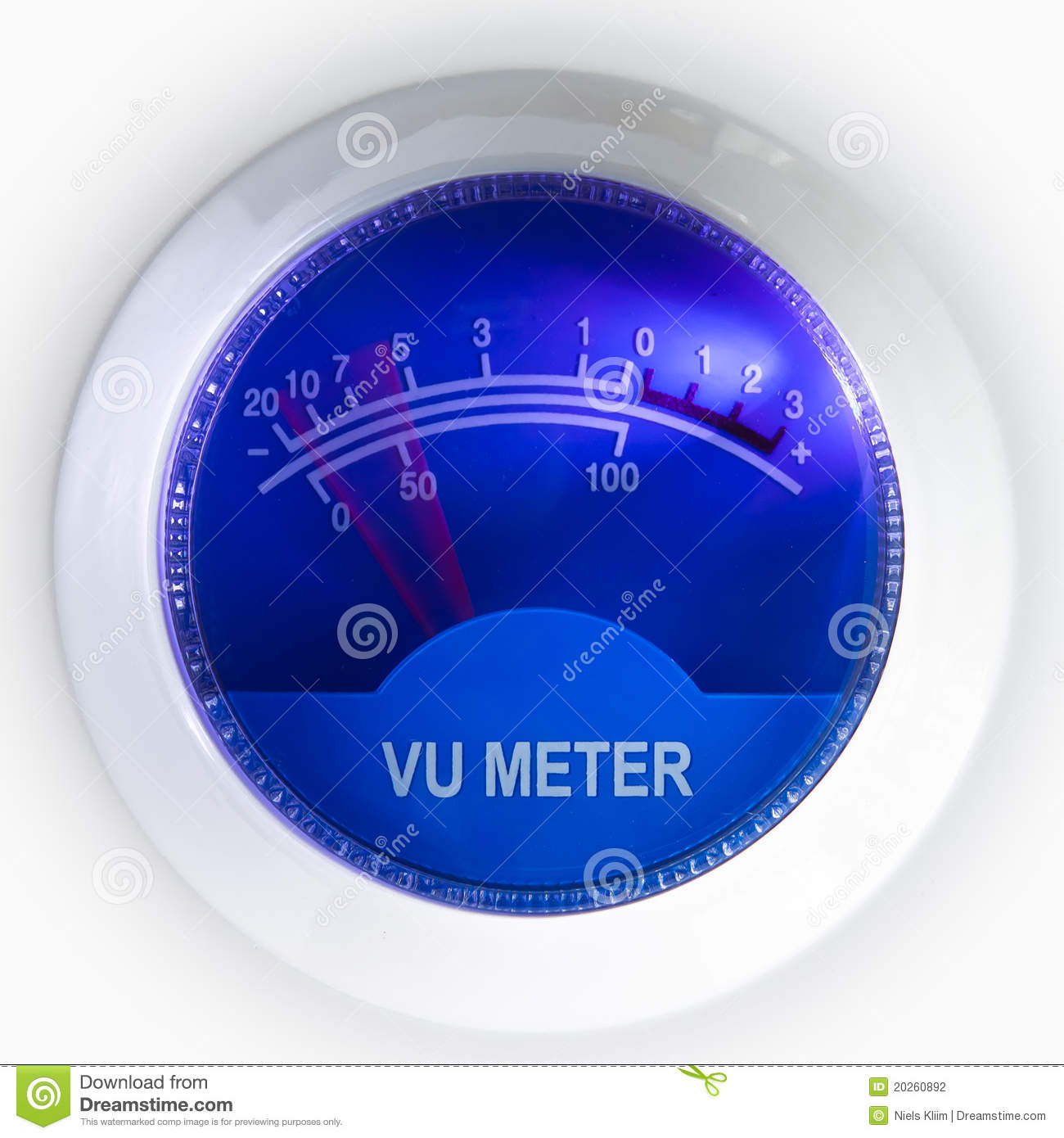 Digital Vu Meter : Decibel meter royalty free stock photography