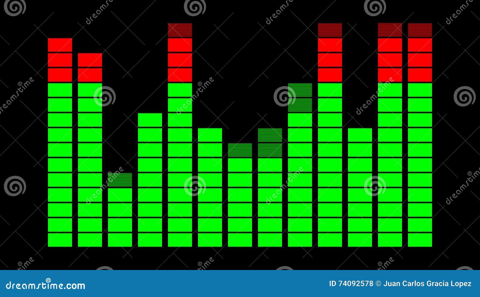 VU Meter Digital Sound Display Stock Footage - Video of